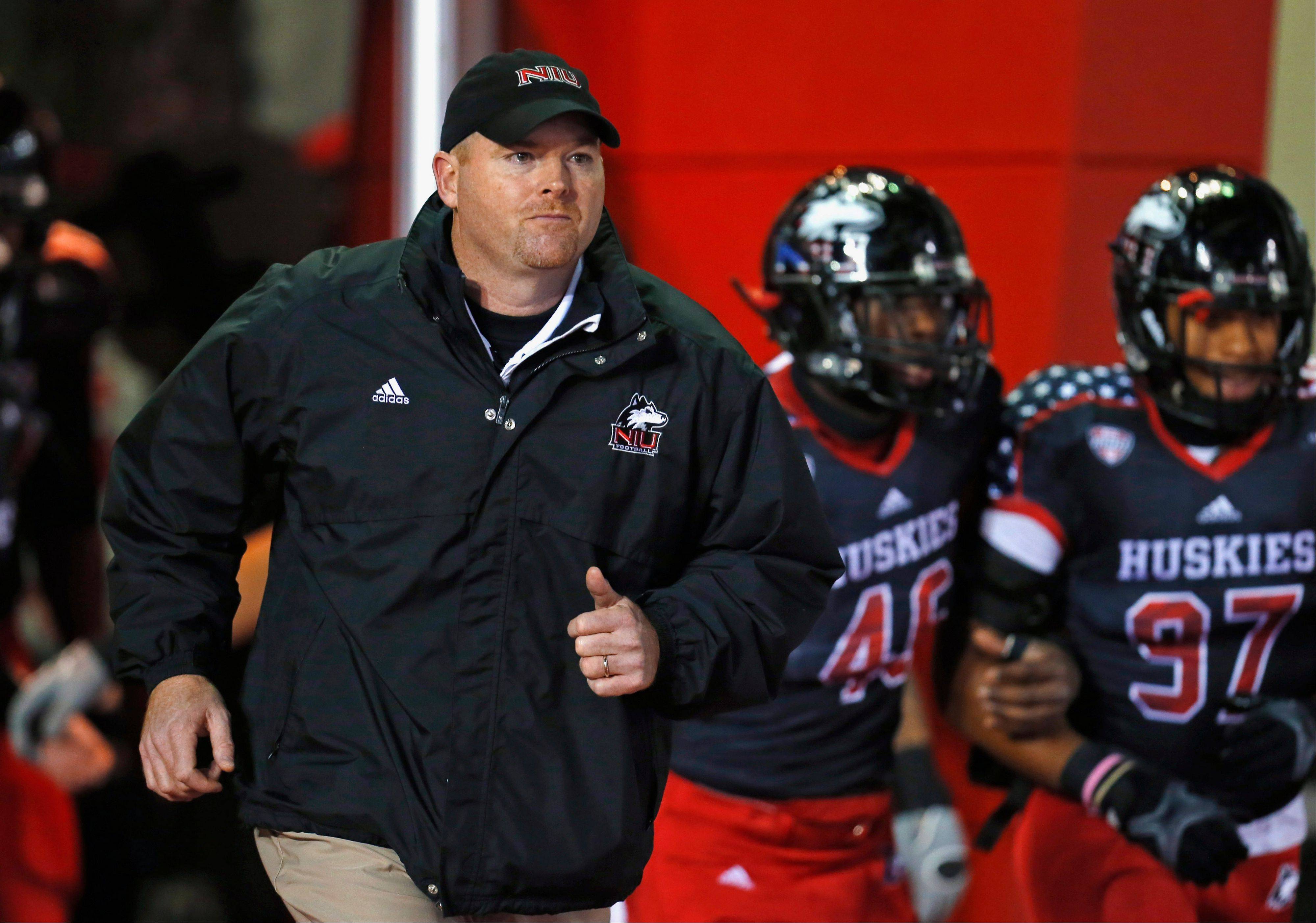 Northern Illinois head coach Rod Carey will lead his team Dec. 26 onto the field at Qualcomm Stadium in San Diego.