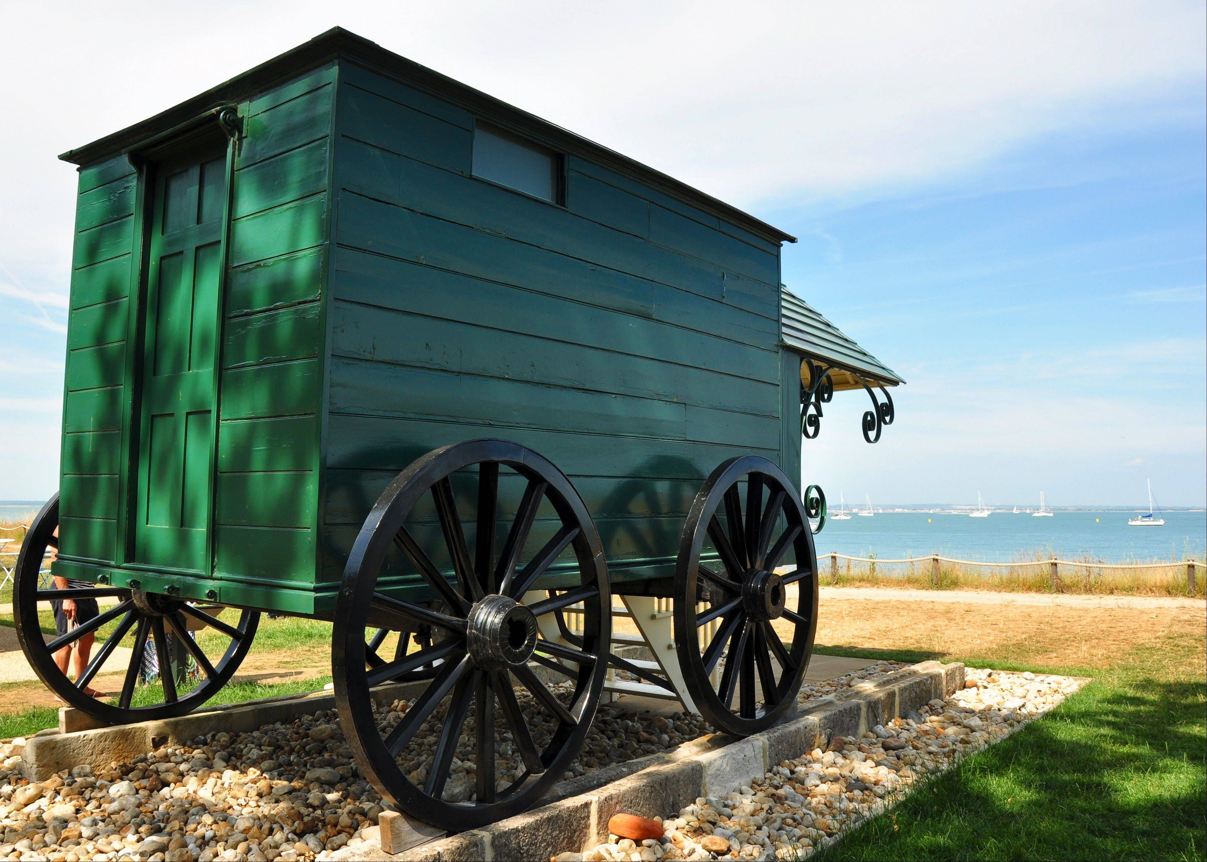 For modesty's sake, Queen Victoria used a bathing machine when she went swimming off Osborne beach. The contraption was pushed on rails into the water where she emerged in her bathing suit.