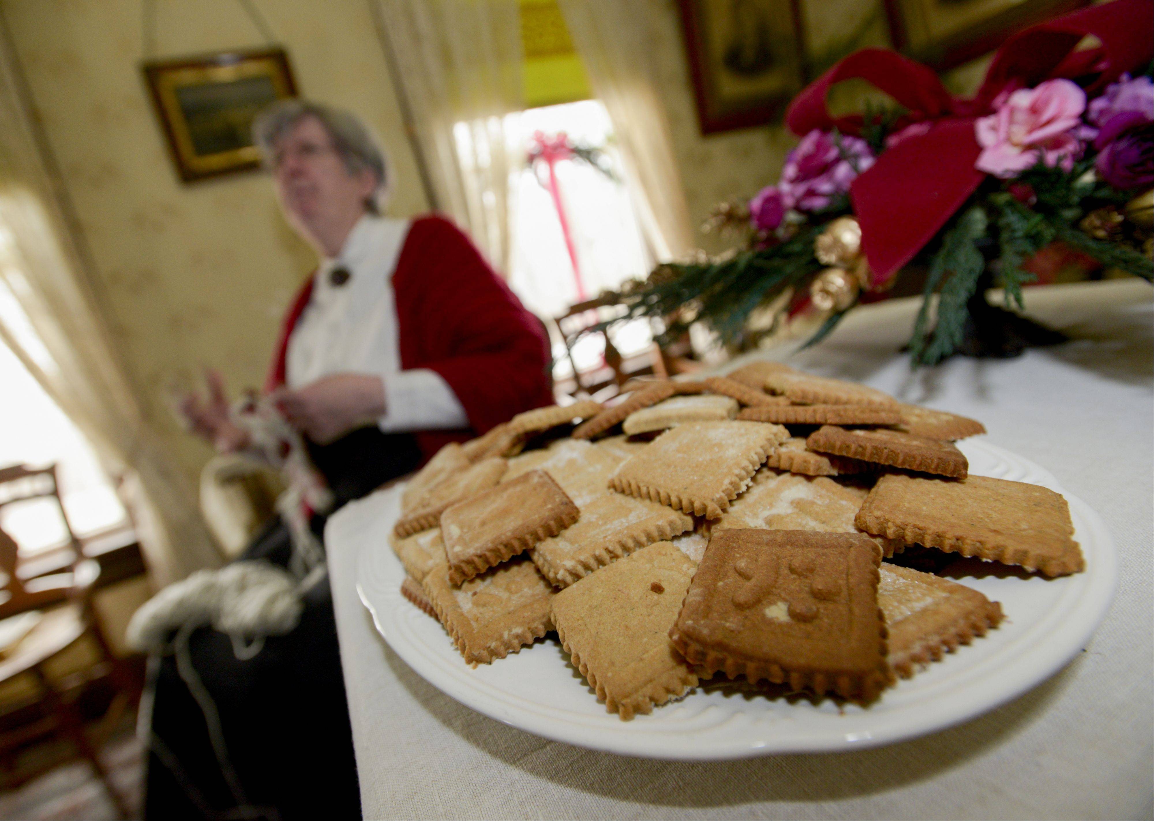 Visitors were treated to traditional Christmas cookies Sunday as part of Kline Creek Farm's representation of an 1890s Christmas. The program, which continues through Dec. 30, gives visitors an idea of how the holidays were celebrated more than 120 years ago.