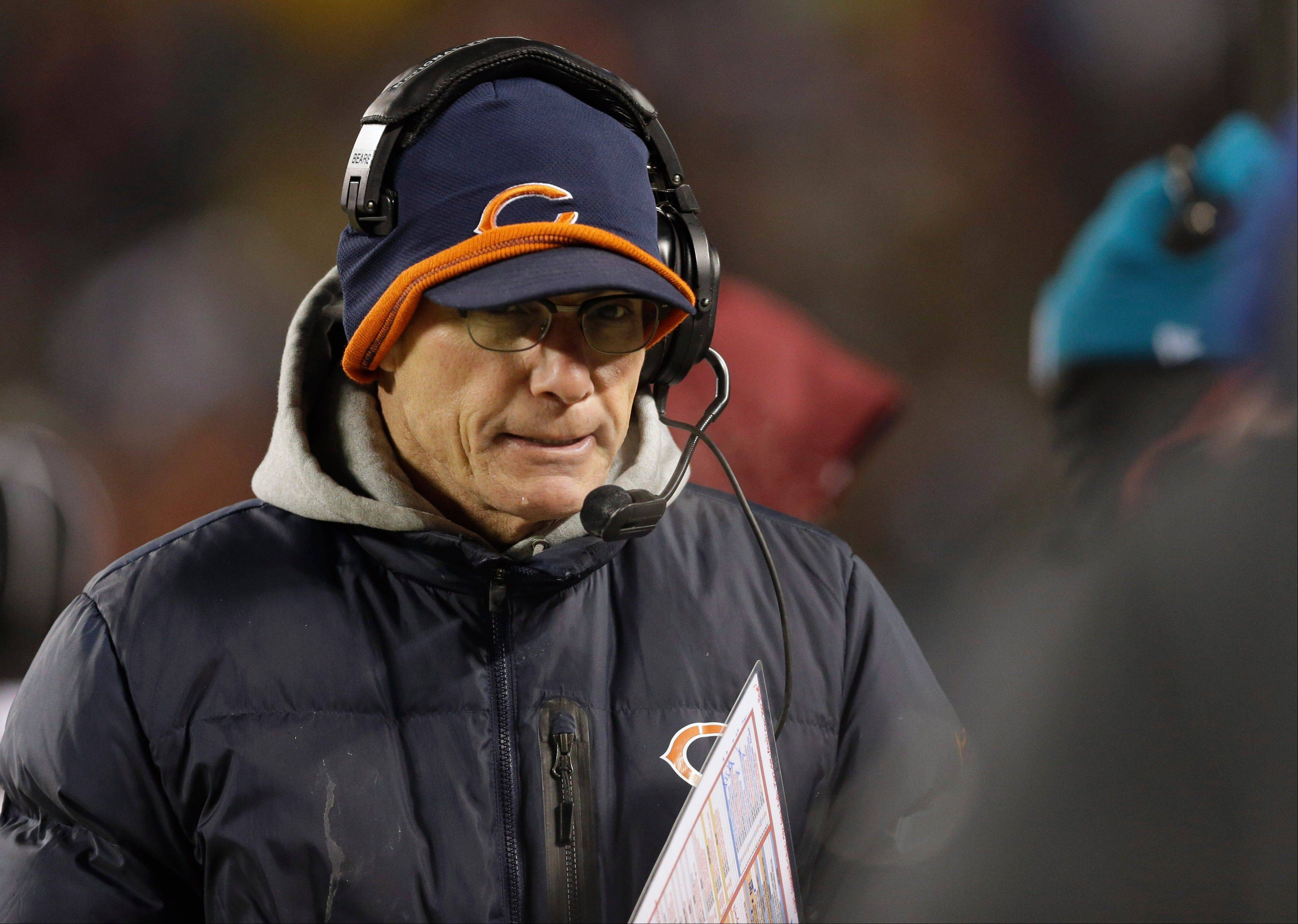 Bears coach Marc Trestman, who has worked wonders with backup quarterback Josh McCown, walks on the sidelines during the second half of Monday night's victory over the Dallas Cowboys.