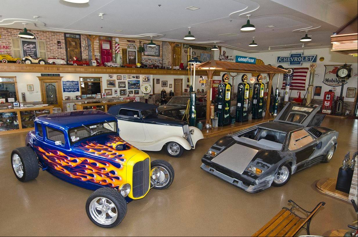 Getz's showroom is part of the family's auto body and custom car shop.