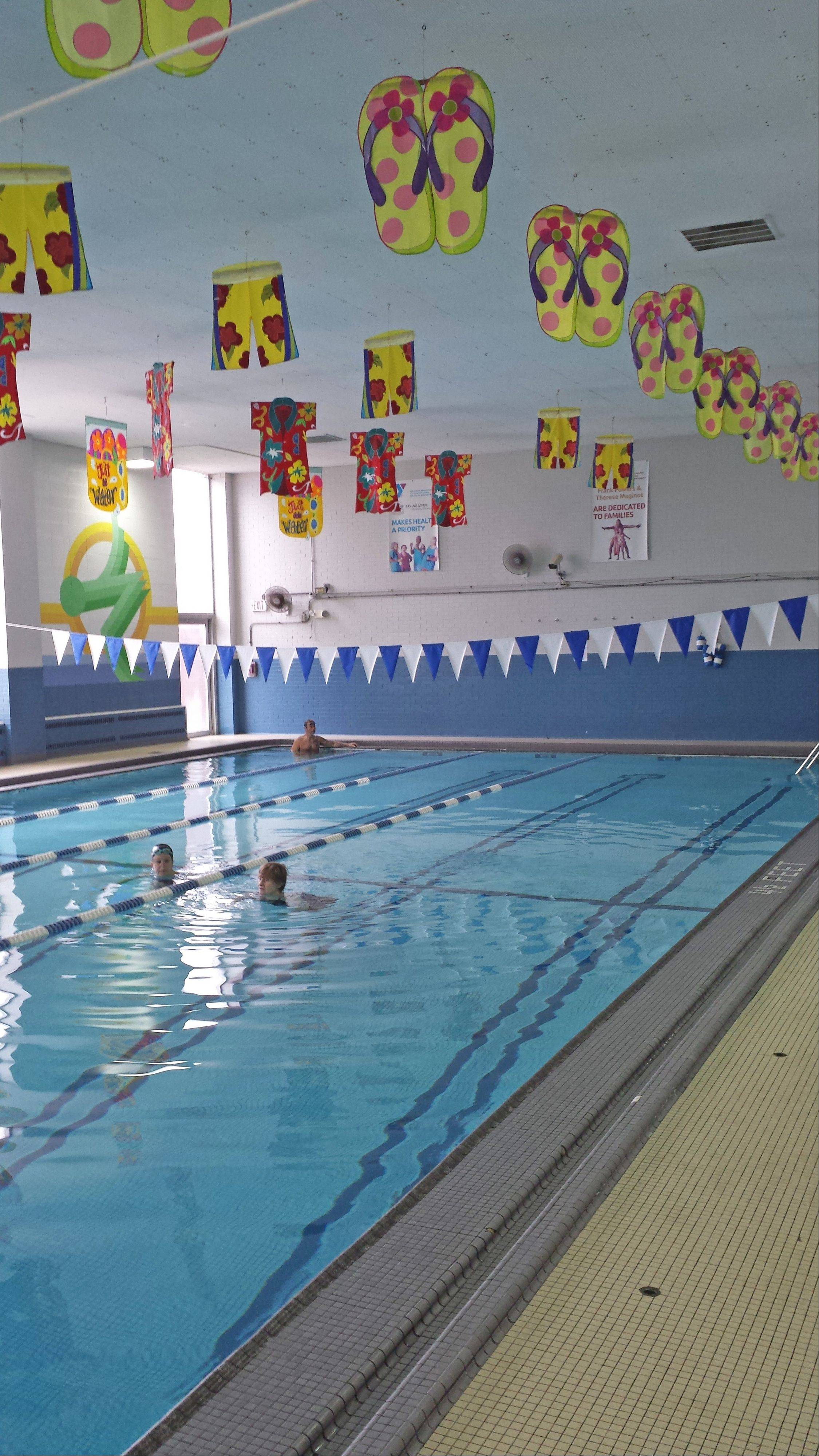 The B.R. Ryall YMCA in Glen Ellyn has a five-lane pool that is home to swim lessons for all ages, a swim team and water-based fitness programs.