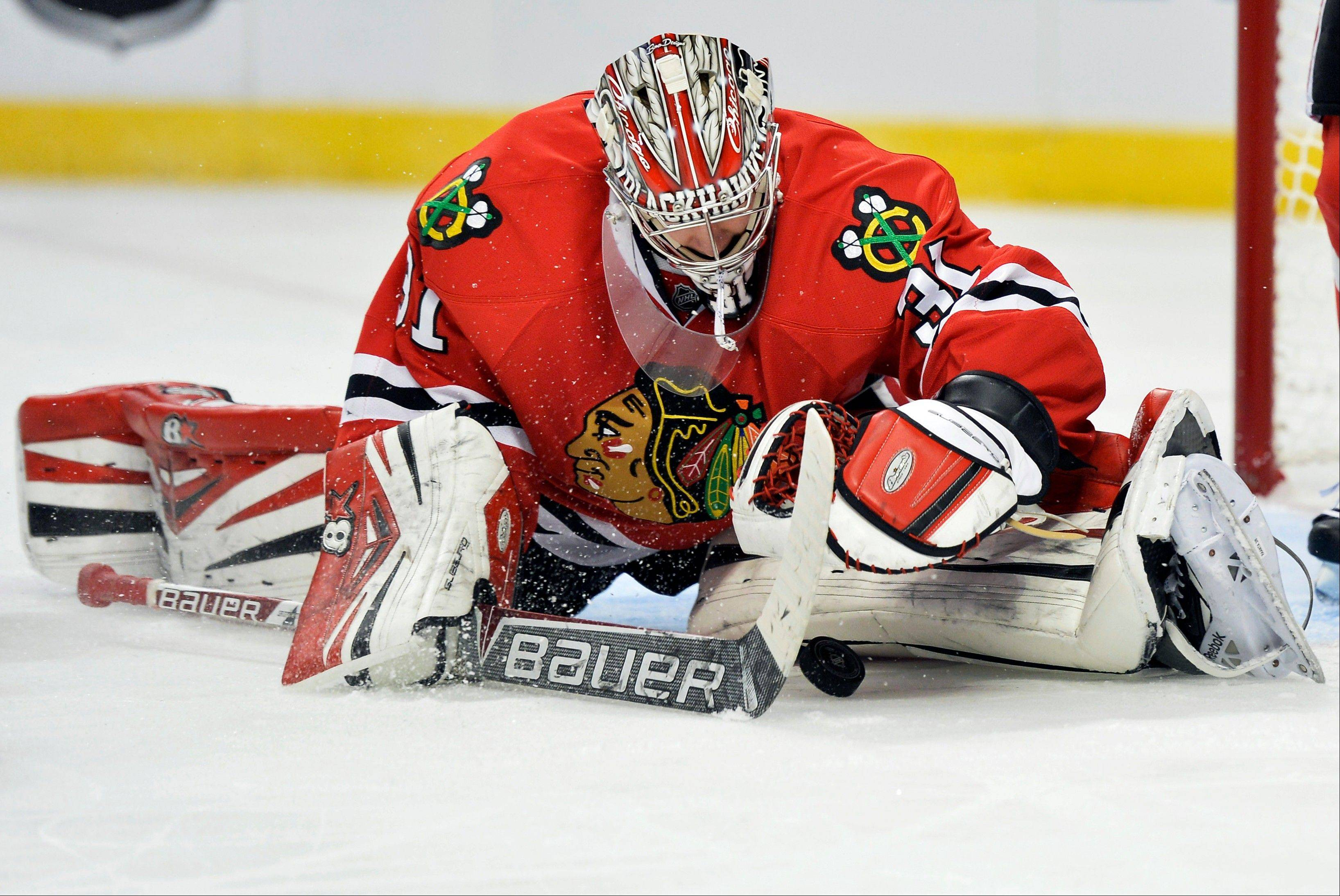 The Blackhawks will be relying on Antti Raanta to get the job done until starter Corey Crawford returns from a leg injury.