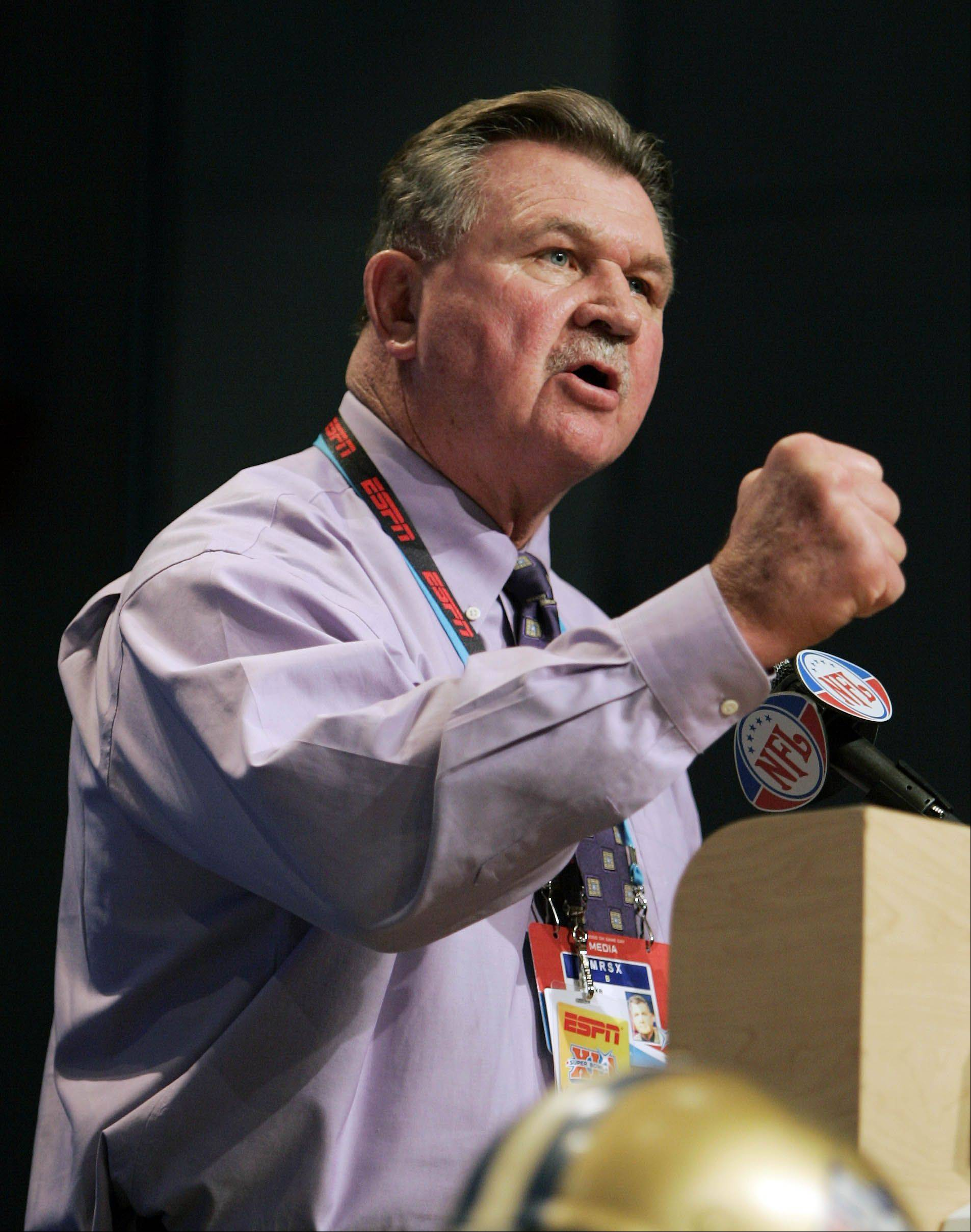 The one and only Mike Ditka will be honored at halftime of Monday night's Bears-Cowboys game at Soldier Field.