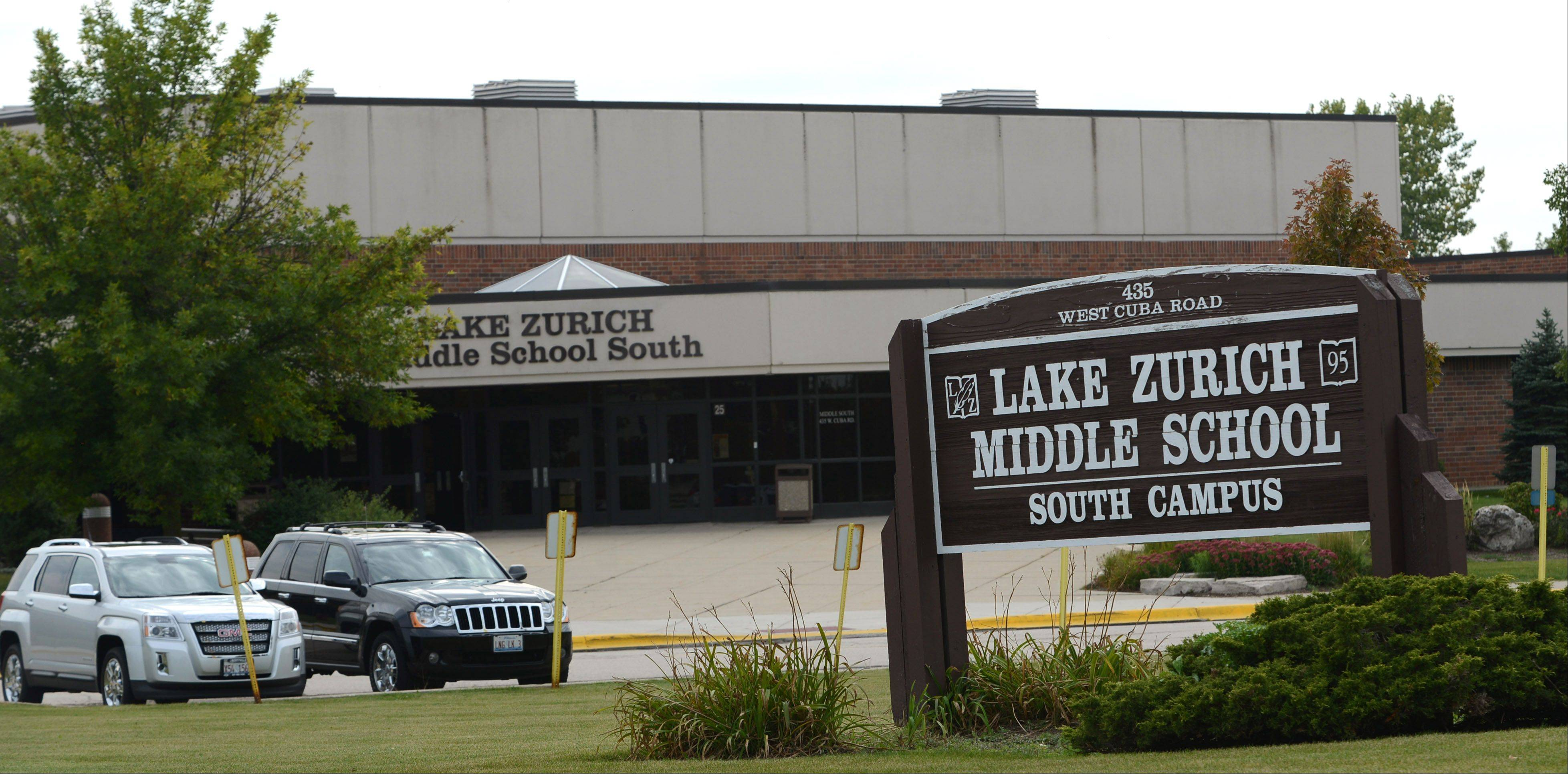 Lake Zurich Middle School South was locked down Tuesday after reports of a student with a weapon.
