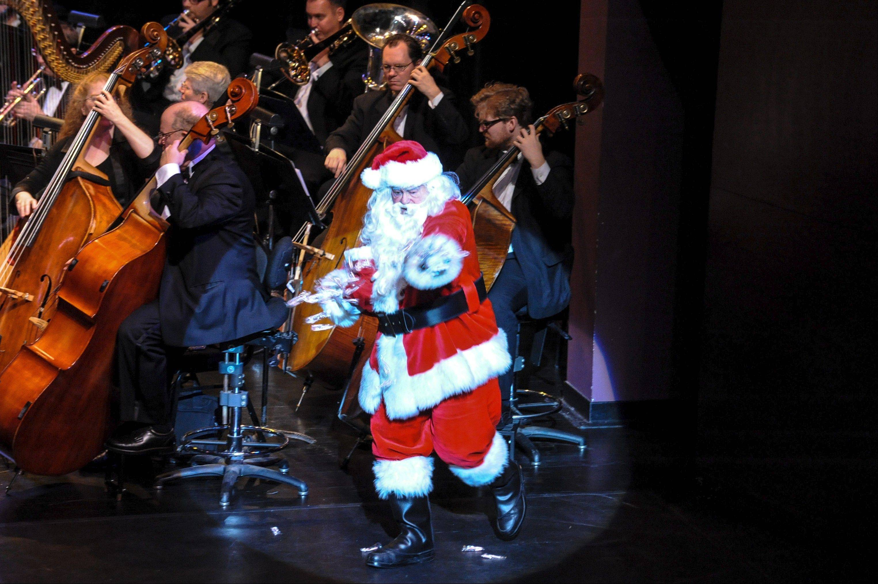 A special visitor from the North Pole is expected to make an appearance at the ESO's holiday concerts this weekend.