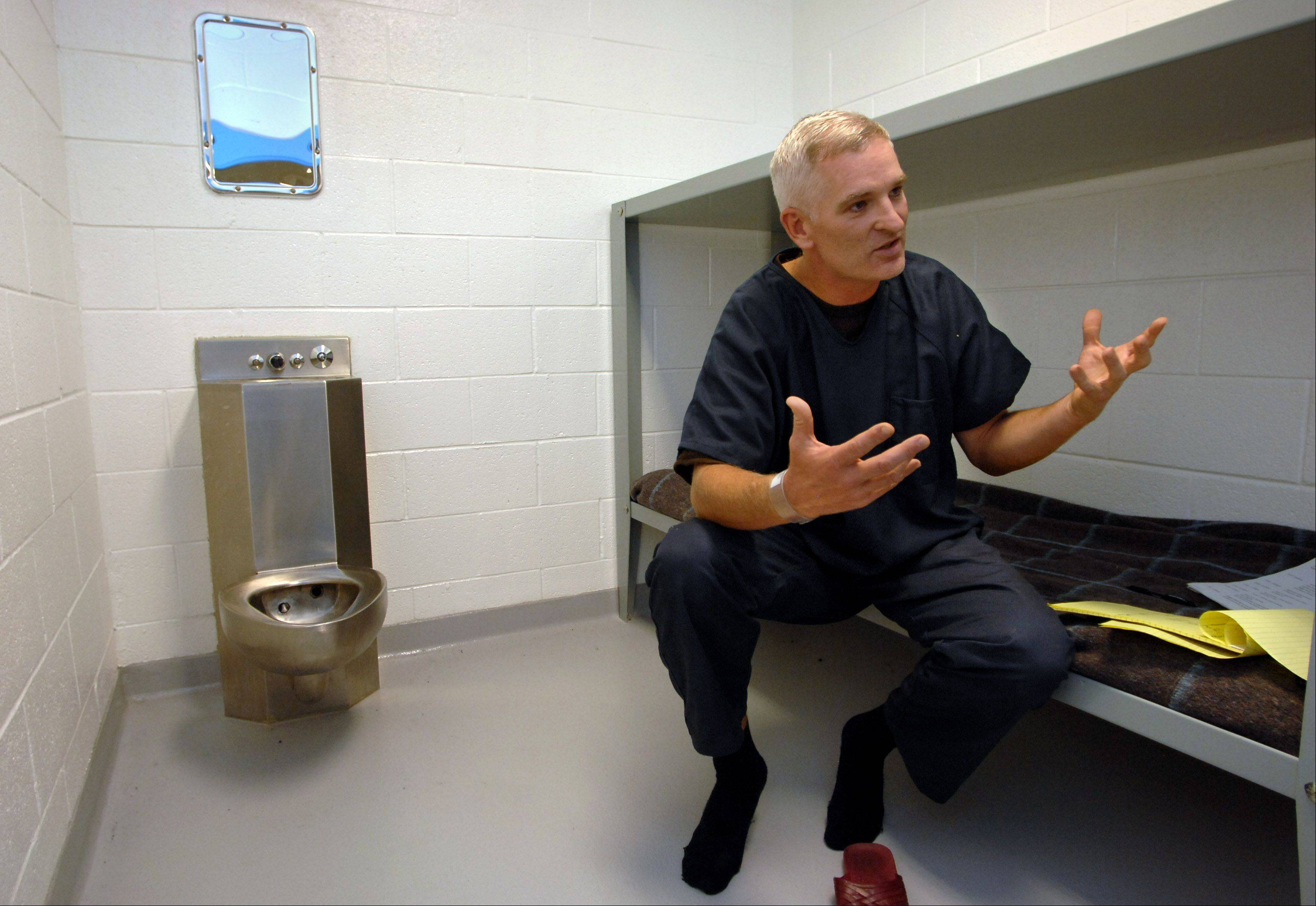Lake County jail inmates will receive medical services from a new company starting in 2014. Here, Lake County sheriff Mark Curran talks to the media during his self-imposed 2008 stay in the jail.