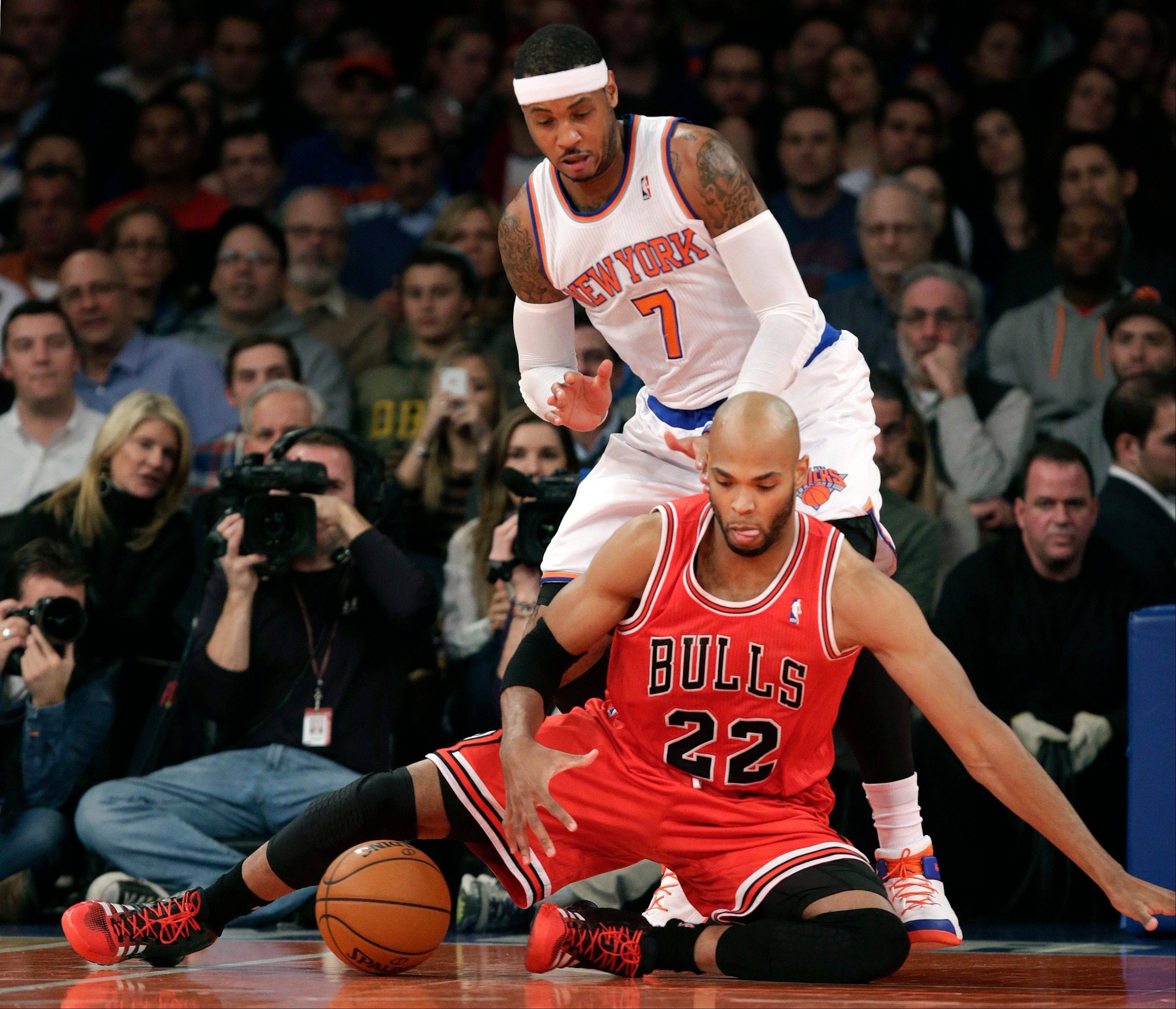A win over the Knicks was there for the taking, but Taj Gibson and the Bulls couldn�t close the deal despite rallying from 23 points down at Madison Square Garden in New York.