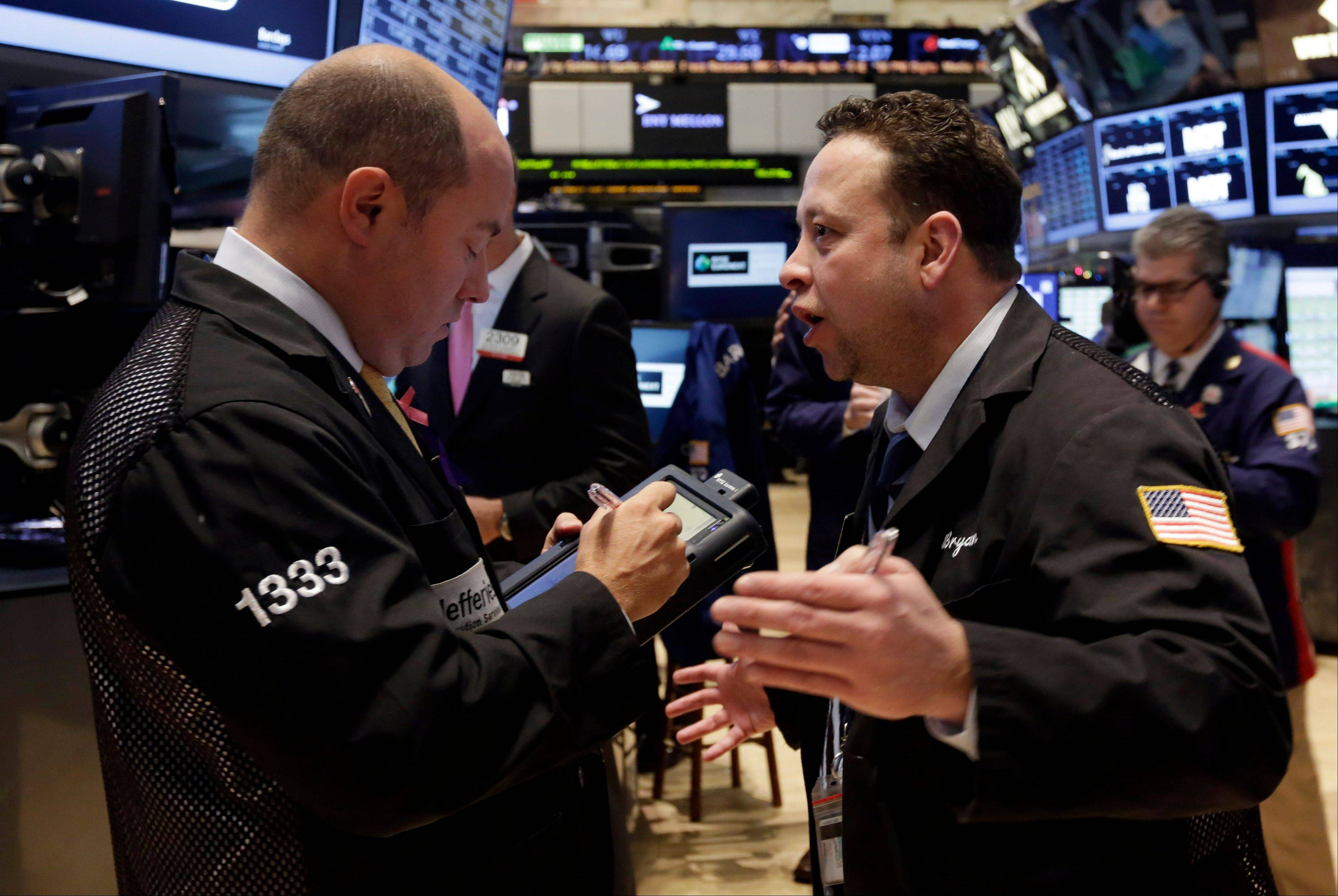 U.S. stocks fell a second day Wednesday, giving the Standard & Poor's 500 Index its biggest back-to-back drop in two months, as a congressional budget accord fueled speculation the Federal Reserve could trim stimulus next week.