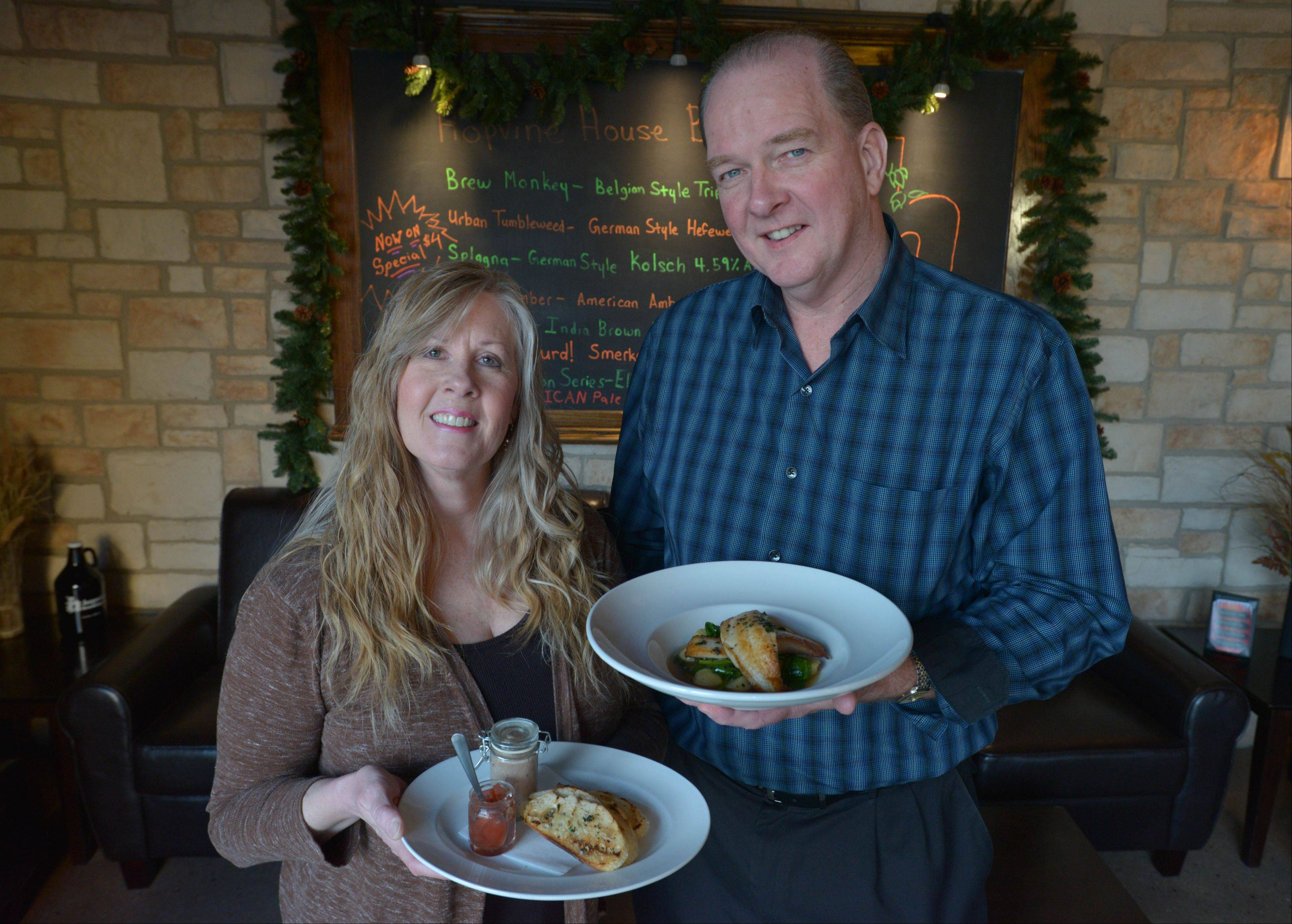 Owners Jan and Doug Isley opened Hopvine Brewing Co. in Aurora earlier this fall.