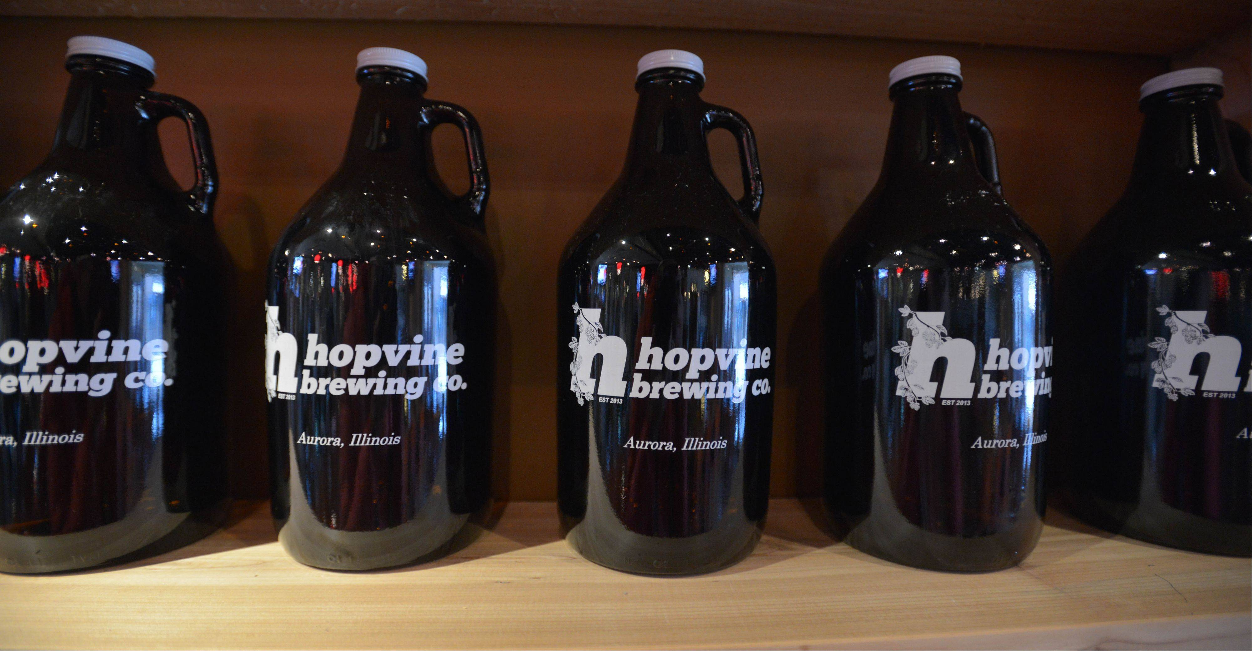 Hopvine Brewing Co. brews a variety of beers on-site.