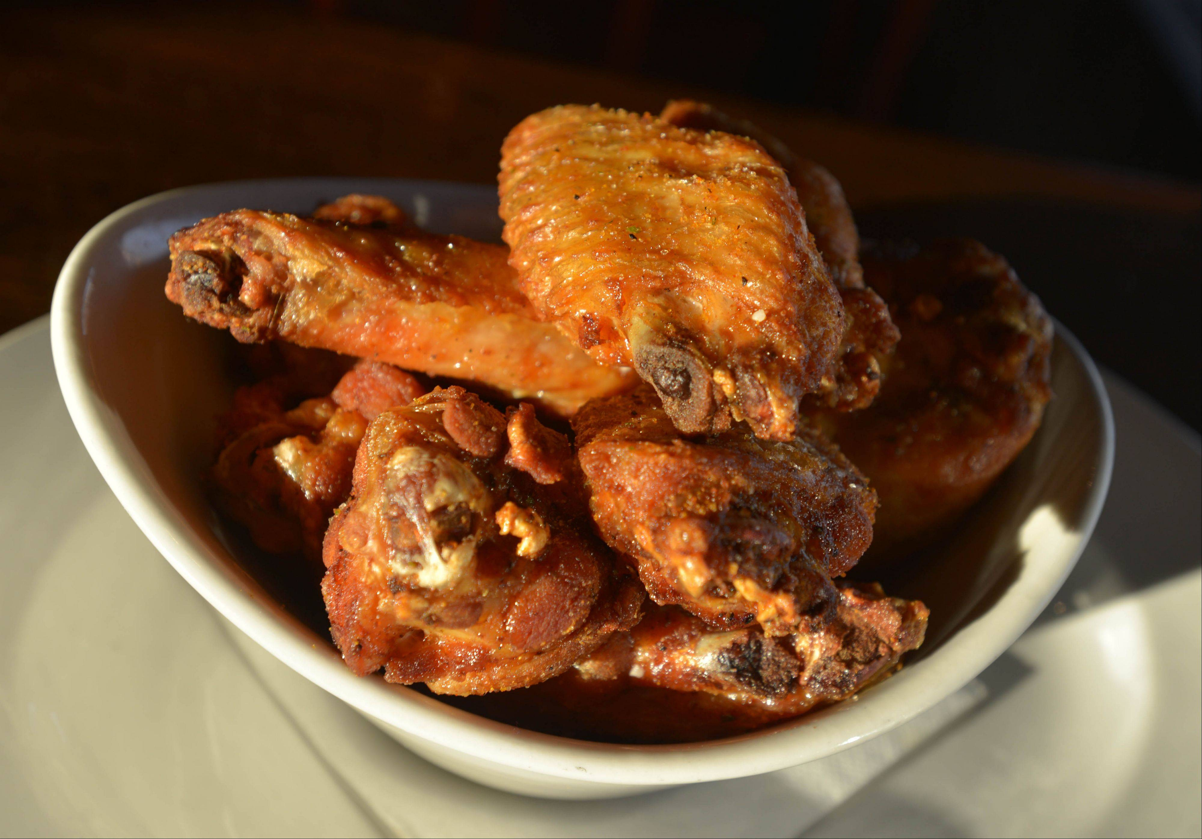 Start a meal at Hopvine with smoked chicken wings.