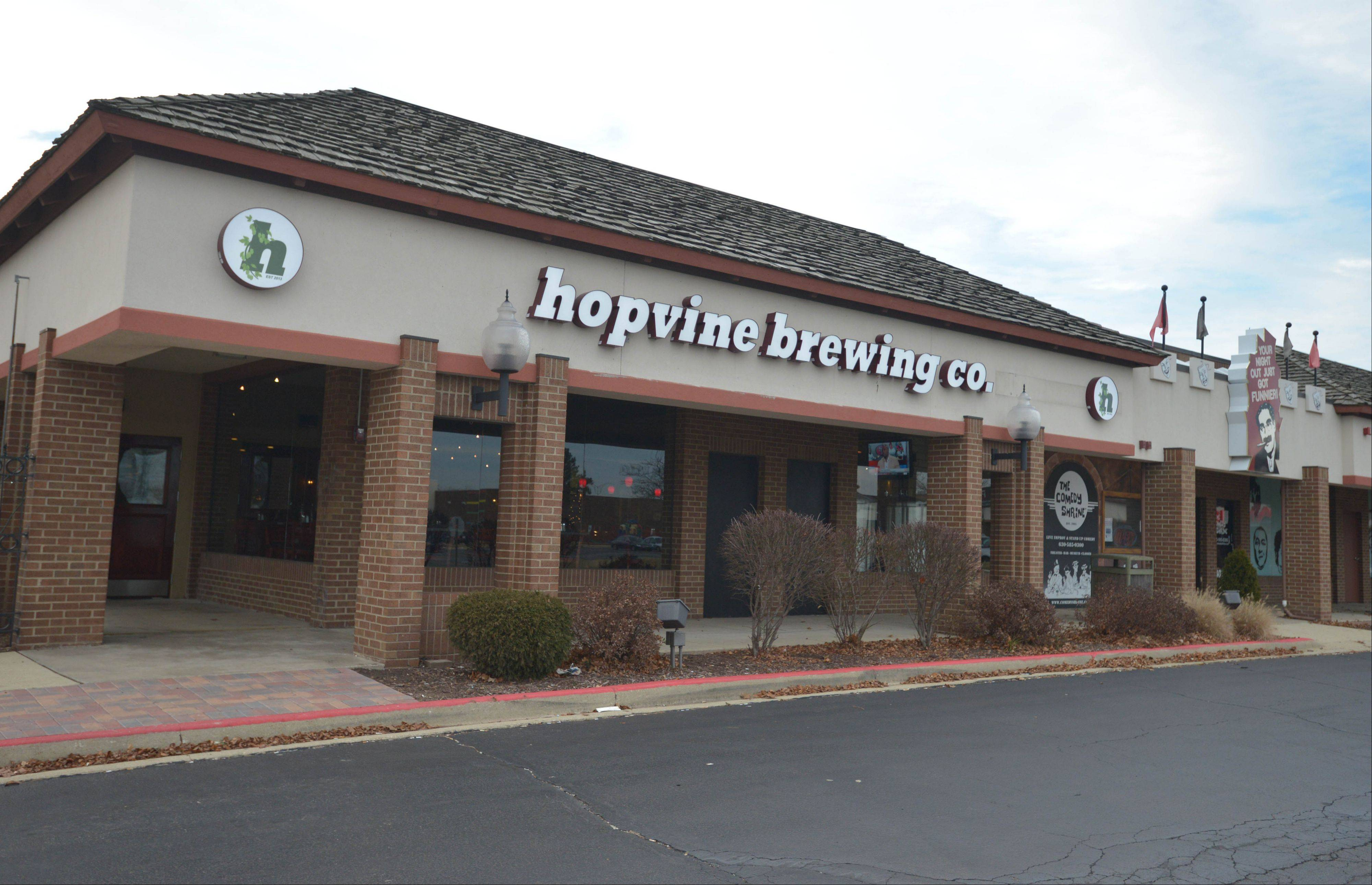 Hopvine Brewing Co. opened up earlier this fall just outside Westfield Mall in Aurora.