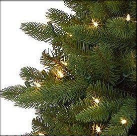 When searching for an artificial tree, you will want one labeled as being fire tested. All Treetime lights are UL approved and generate very little heat.