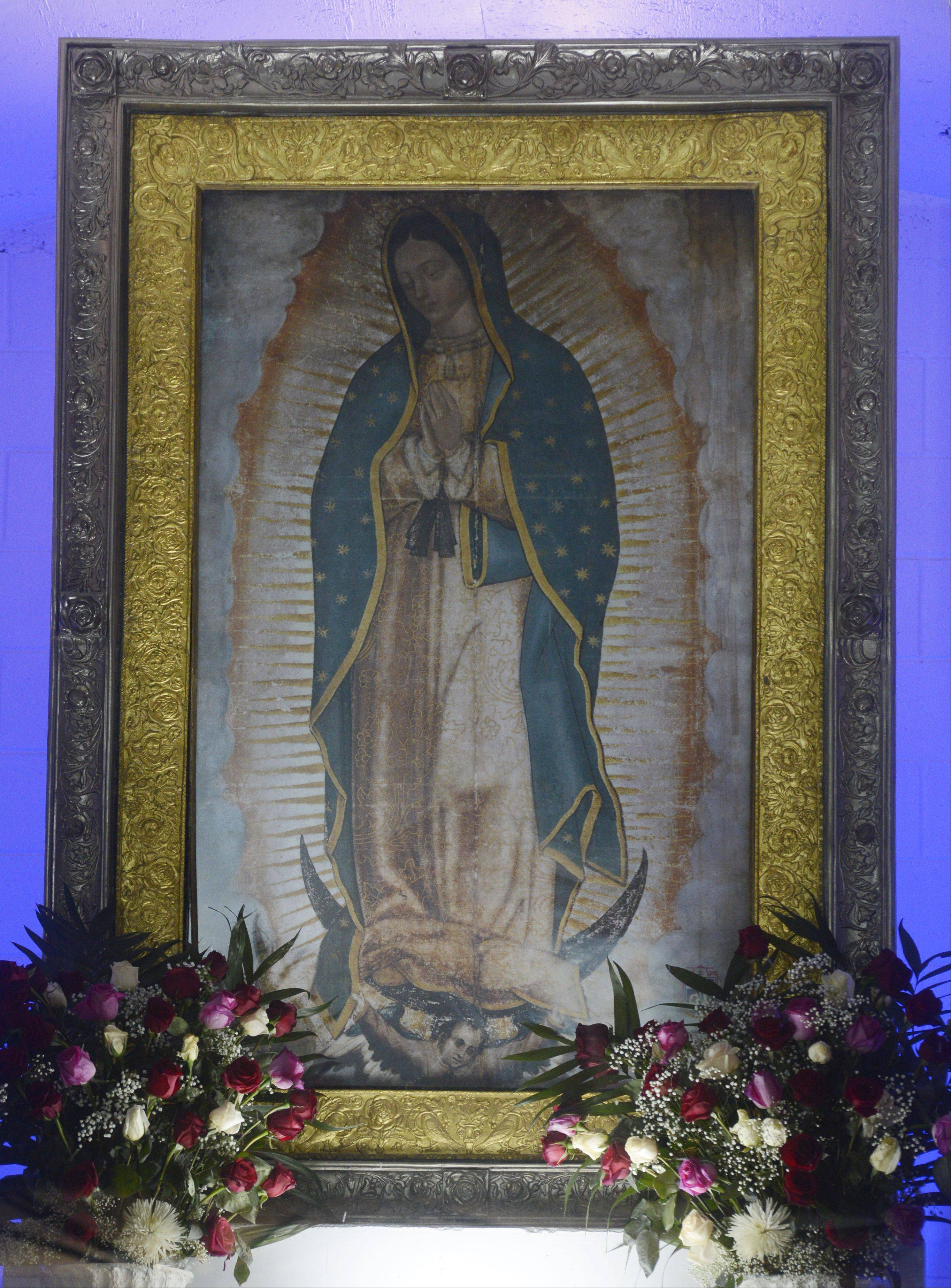JOE LEWNARD/jlewnard@dailyherald.comImage of the Blessed Mother at the Shrine of Our Lady of Guadalupe at Maryville in Des Plaines.