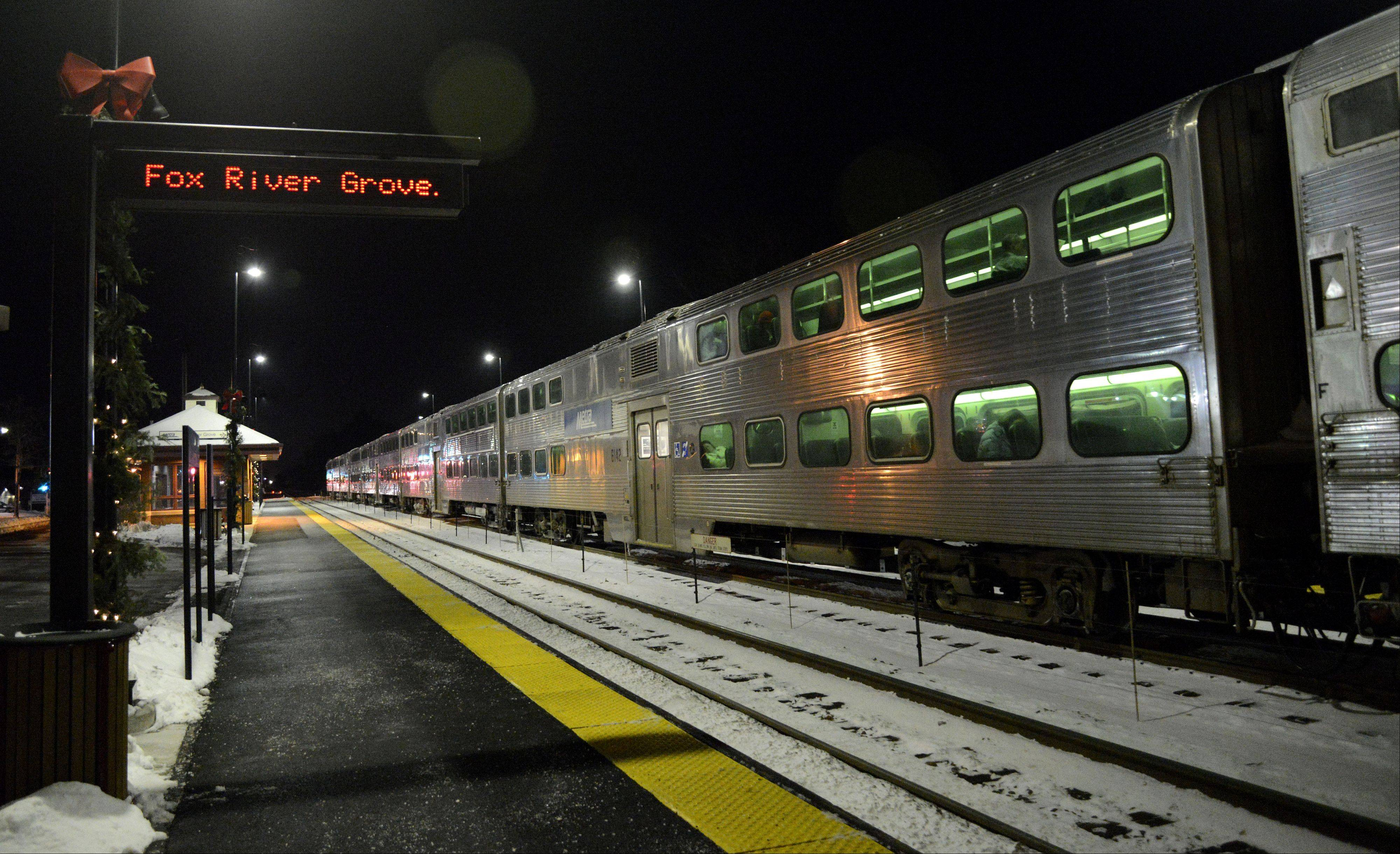 Fox River Grove Western Metra train station, located on the Union Pacific Northwest Line, opened Wednesday.