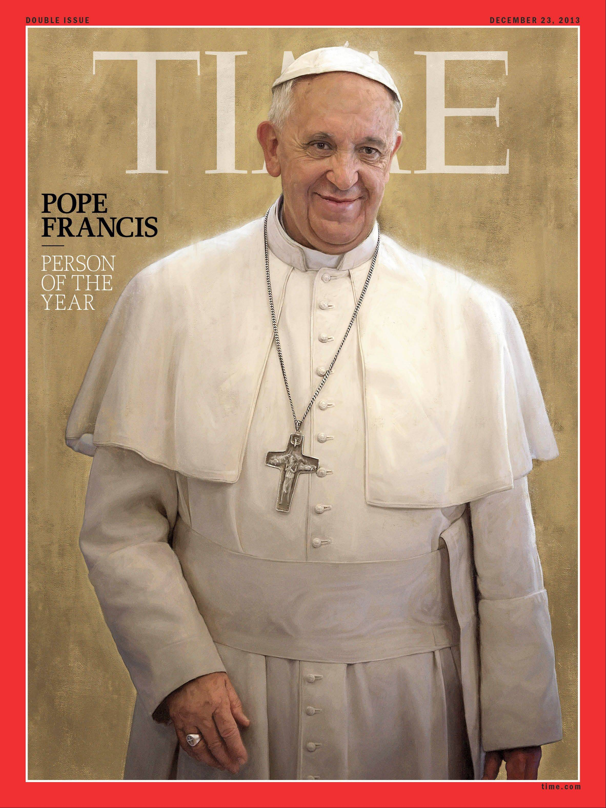 Pope Francis, Time magazine's 2013 Person of the Year.