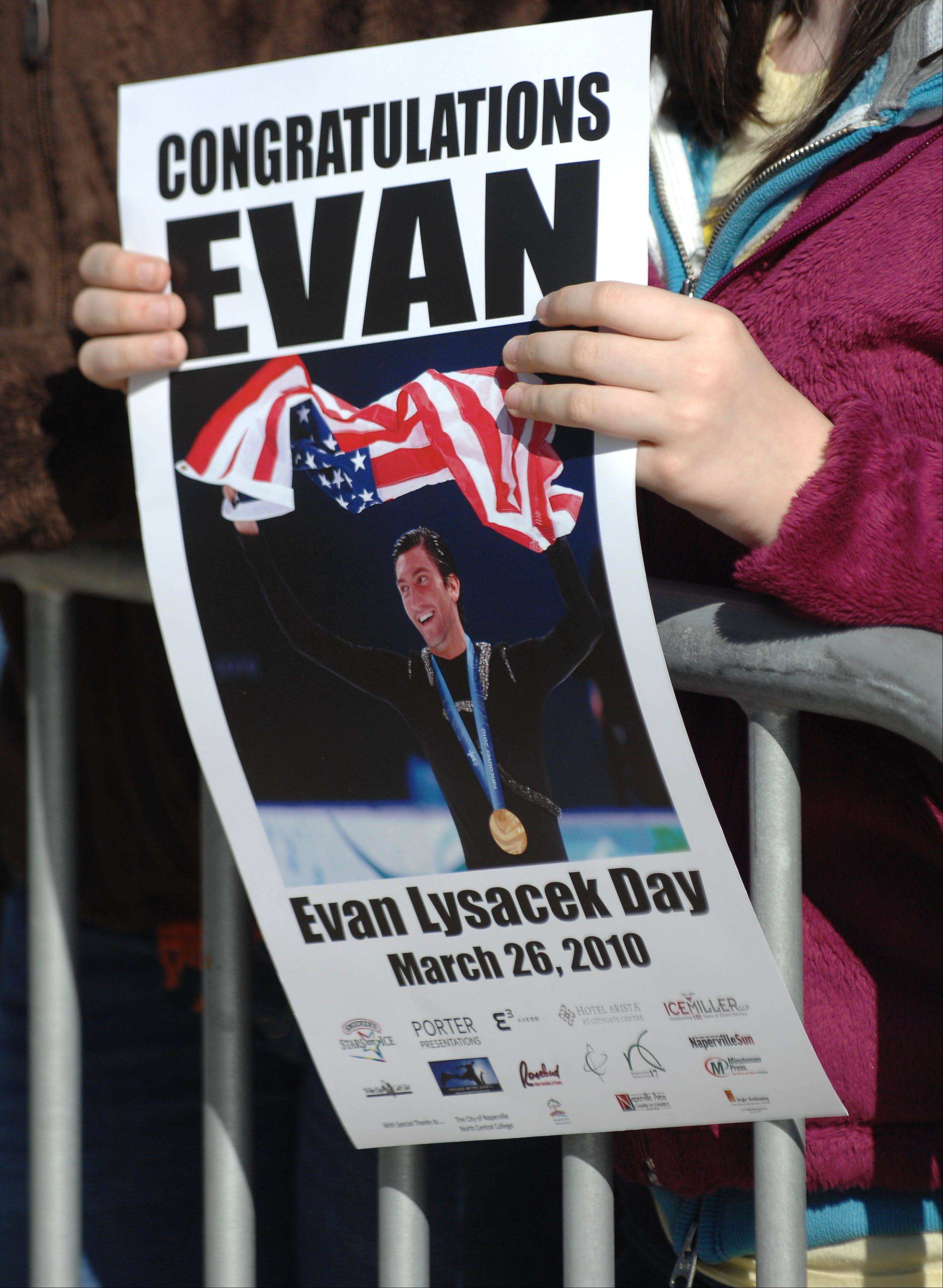 Evan Lysacek Day in Naperville was attended by 35,000 people excited to celebrate the figure skater's 2010 Olympic gold medal.