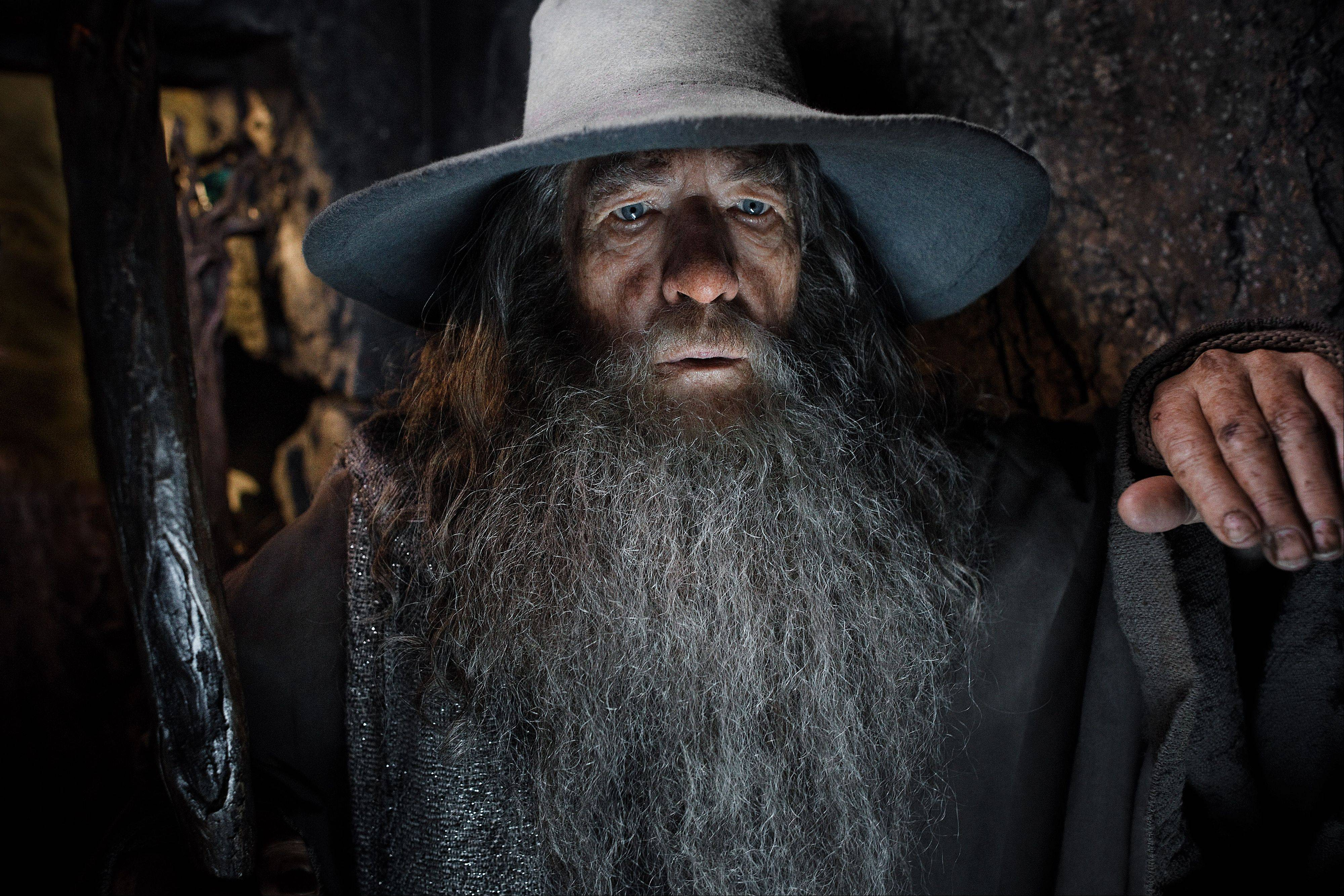 "Gandalf the Grey (Ian McKellen) prepares to repel evil in Peter Jackson's sequel ""The Hobbit: The Desolation of Smaug."""