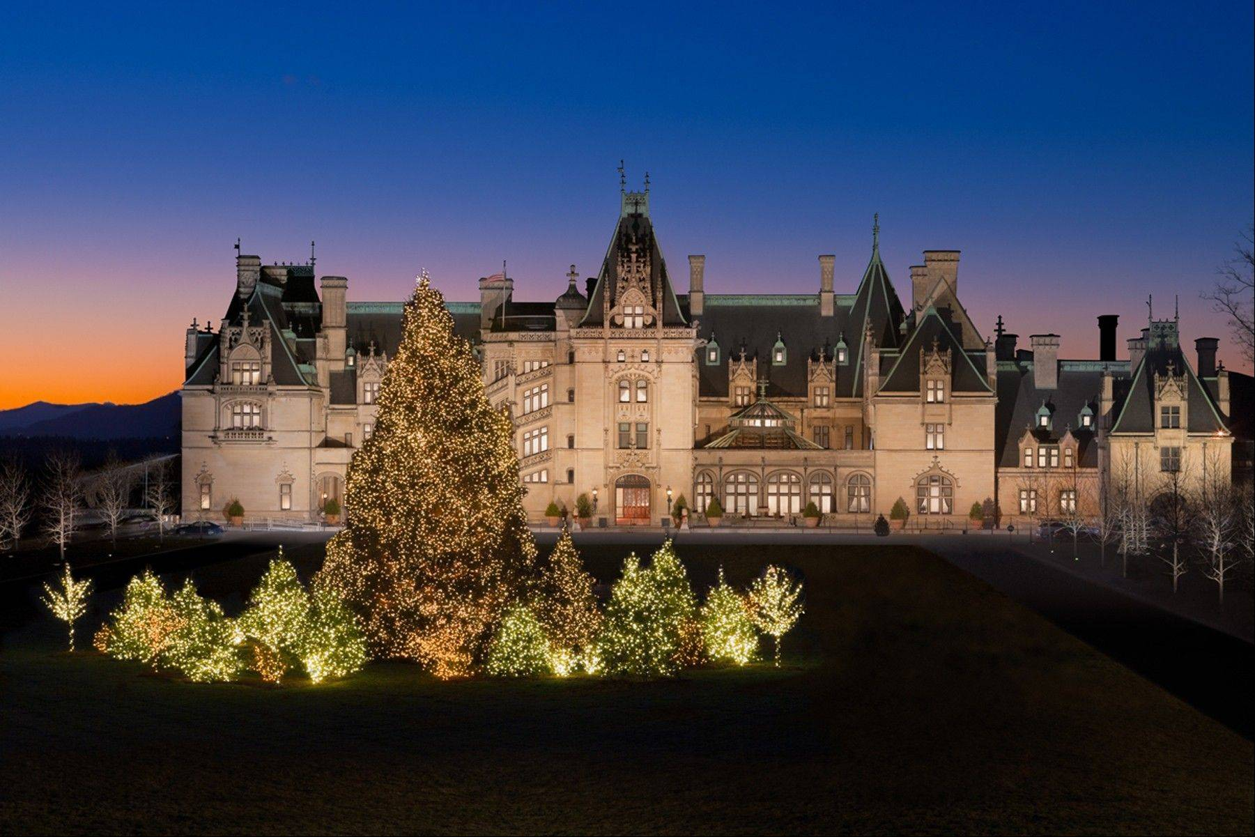 Holiday displays at the Biltmore in Asheville, N.C., will be up through Jan. 12.