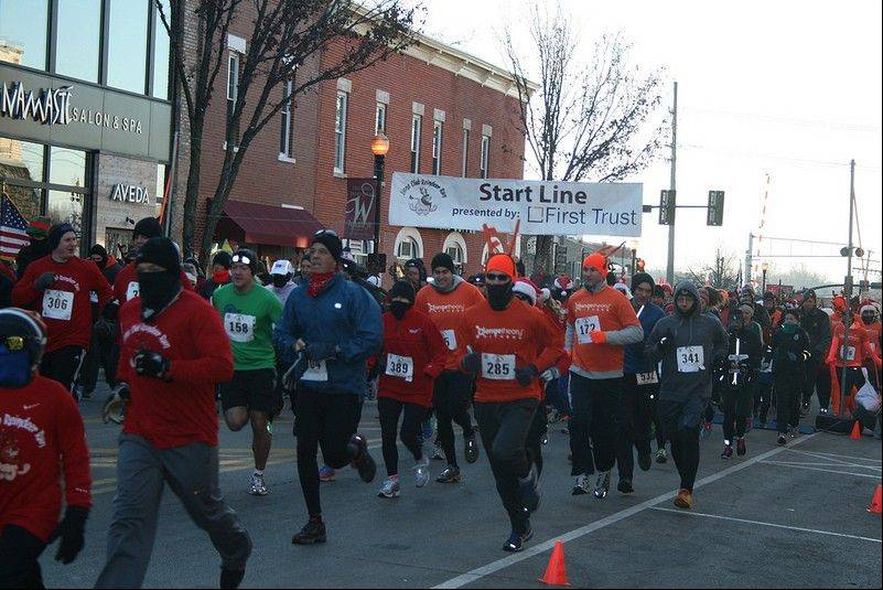 A Wheaton man and a Chicago woman were the top finishers in Wheaton's second annual Reindeer Run 5K.
