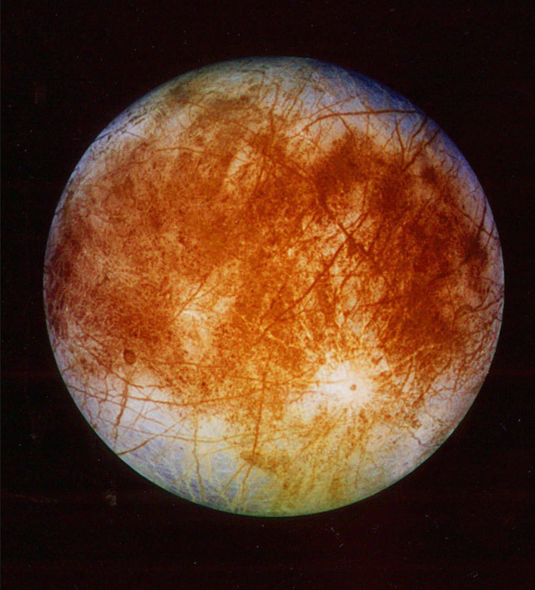Europa, a moon of Jupiter first discovered by Galileo, has long been a subject of interest to scientists because of the presence of water there. Water is believed to be a necessary ingredient for life to exist.