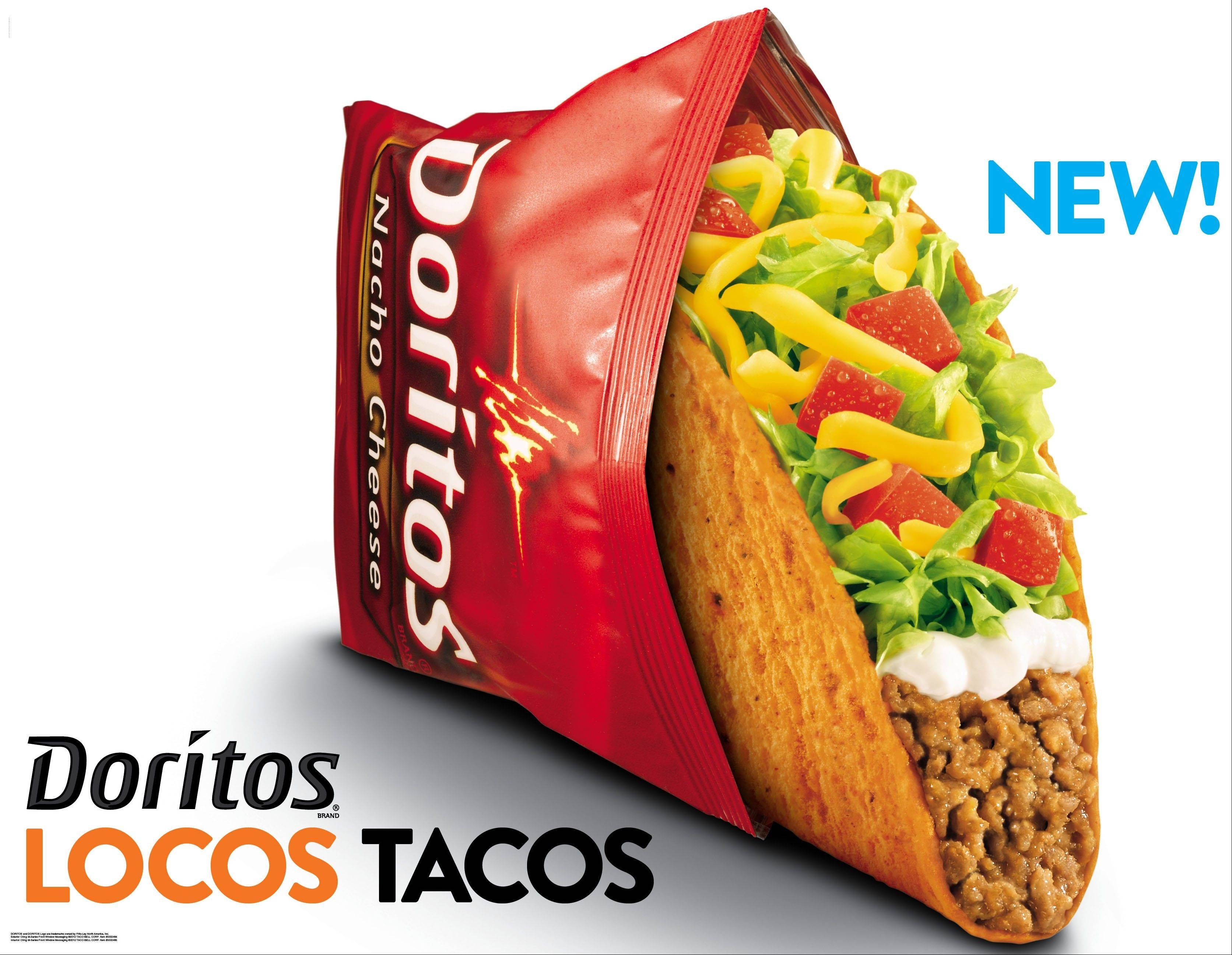 This photo provided by Taco Bell shows a new advertisement for Doritos Locos Tacos shells. PepsiCo Inc., which owns Cheetos, Fritos, Tostitos and other snacks, found enormous success in 2012 after teaming up with Taco Bell to create Dorito-flavored taco shells. And it has since been looking for other ways to create restaurant dishes featuring its popular snack.