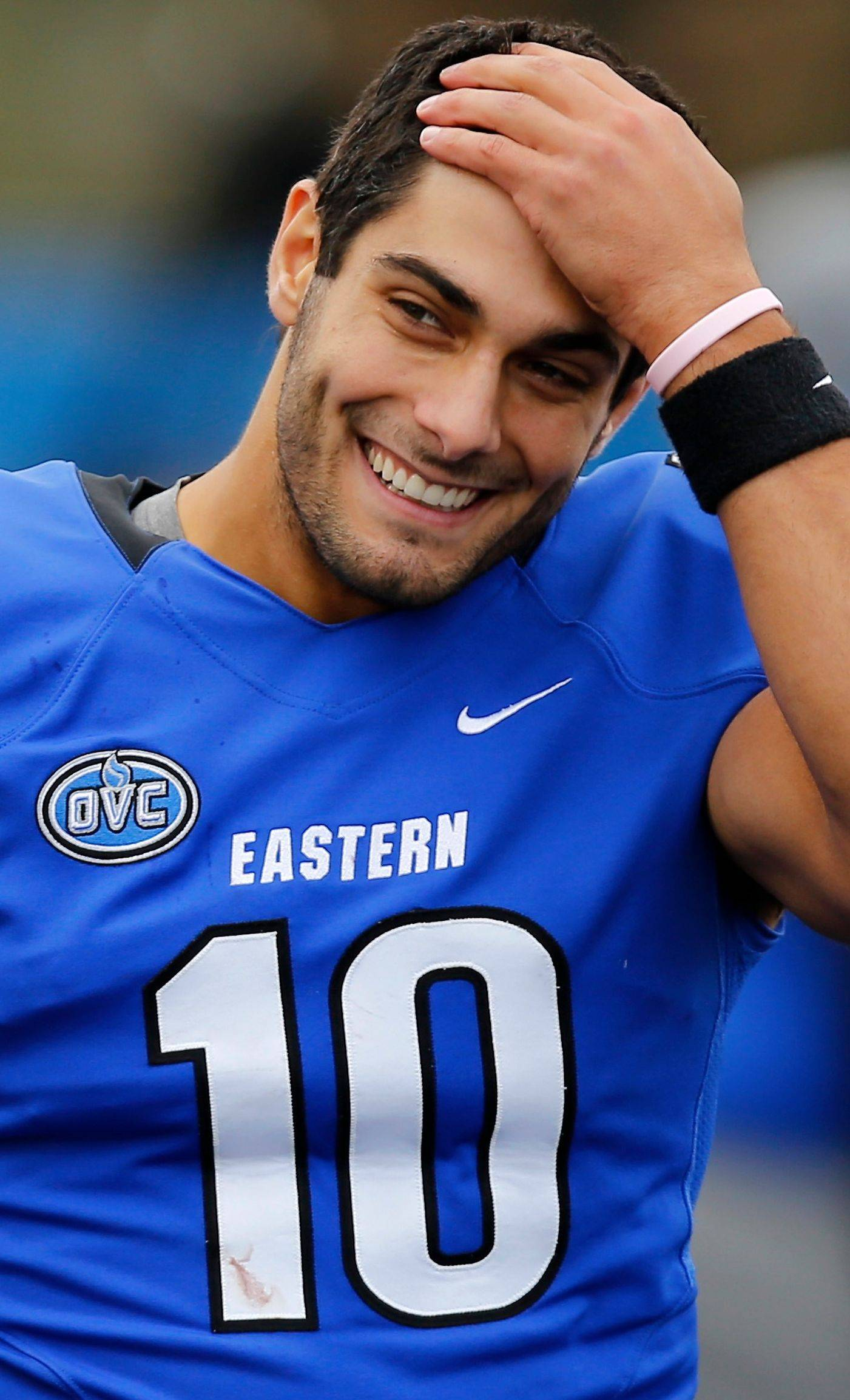 All 32 NFL teams have been on Eastern Illinois' campus to evaluate QB Jimmy Garroppolo this fall. The Rolling Meadows product will lead his team against Towson today into the Football Championship Subdivision quarterfinals.