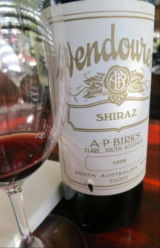 The 1998 Wendouree Shiraz is a generous, seductive red that tastes of licorice, dark chocolate, earth and dried plums.