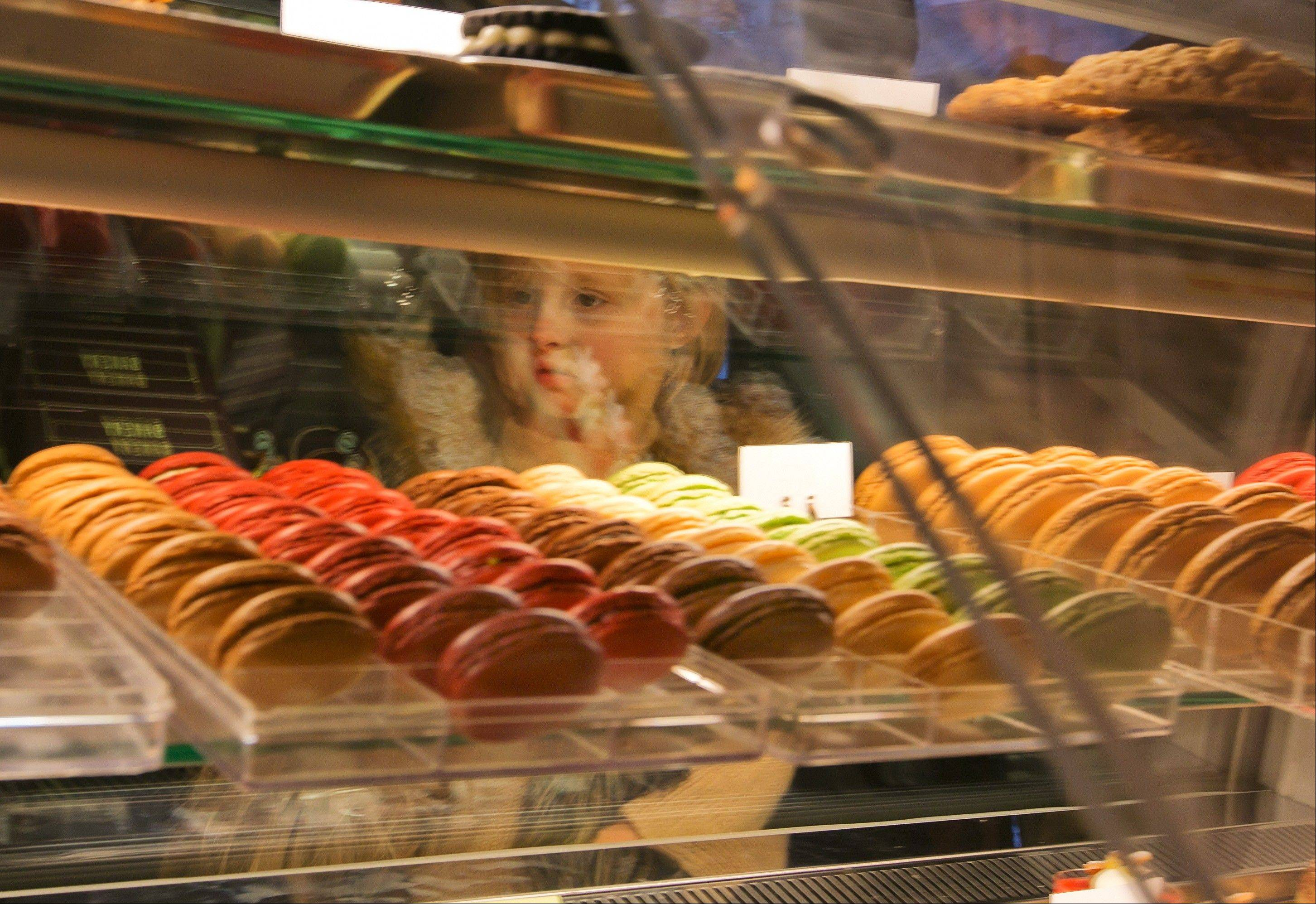 Mini-macarons at Bouchon Bakery in New York's Rockefeller Center cost only 50 cents.