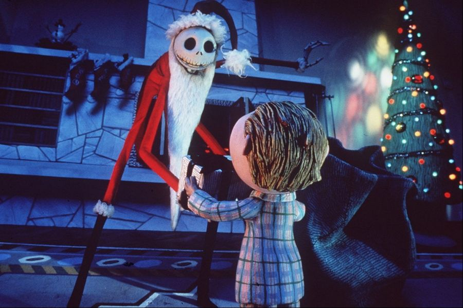 "Jack Skellington tries to usurp Santa's job description in Tim Burton's animated musical ""A Nightmare Before Christmas."""