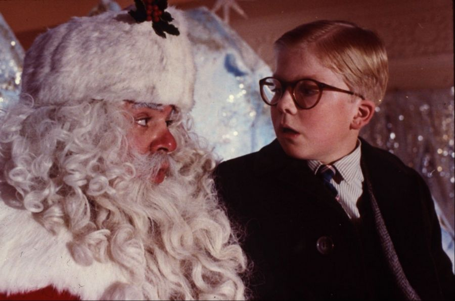 "The classic ""A Christmas Story"" depicts a department store Santa (Jeff Gillen with star Peter Billingsley) as a scary, imposing figure."