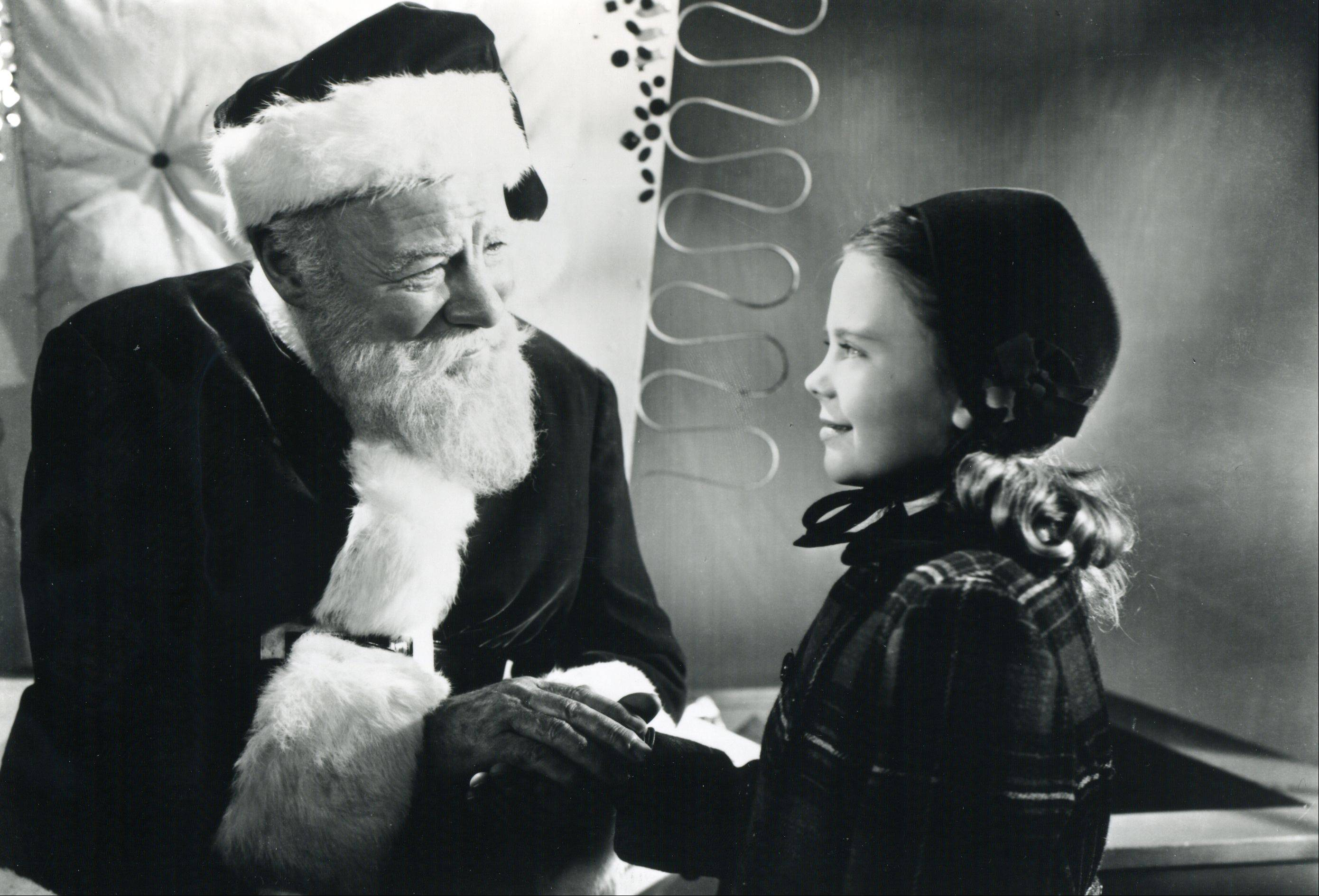 "Edmund Gwenn cements Santa's image as a beloved, caring figure in 1947's ""Miracle on 34th Street."""