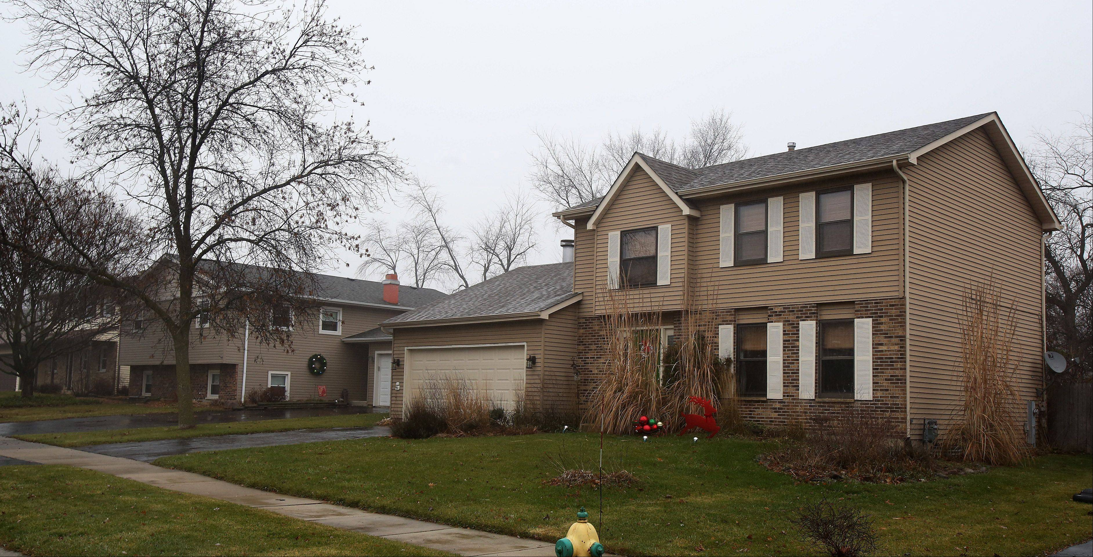These homes on Burr Oak Drive in the Oak Crest neighborhood of Waukegan are typical of those found in the subdivision.