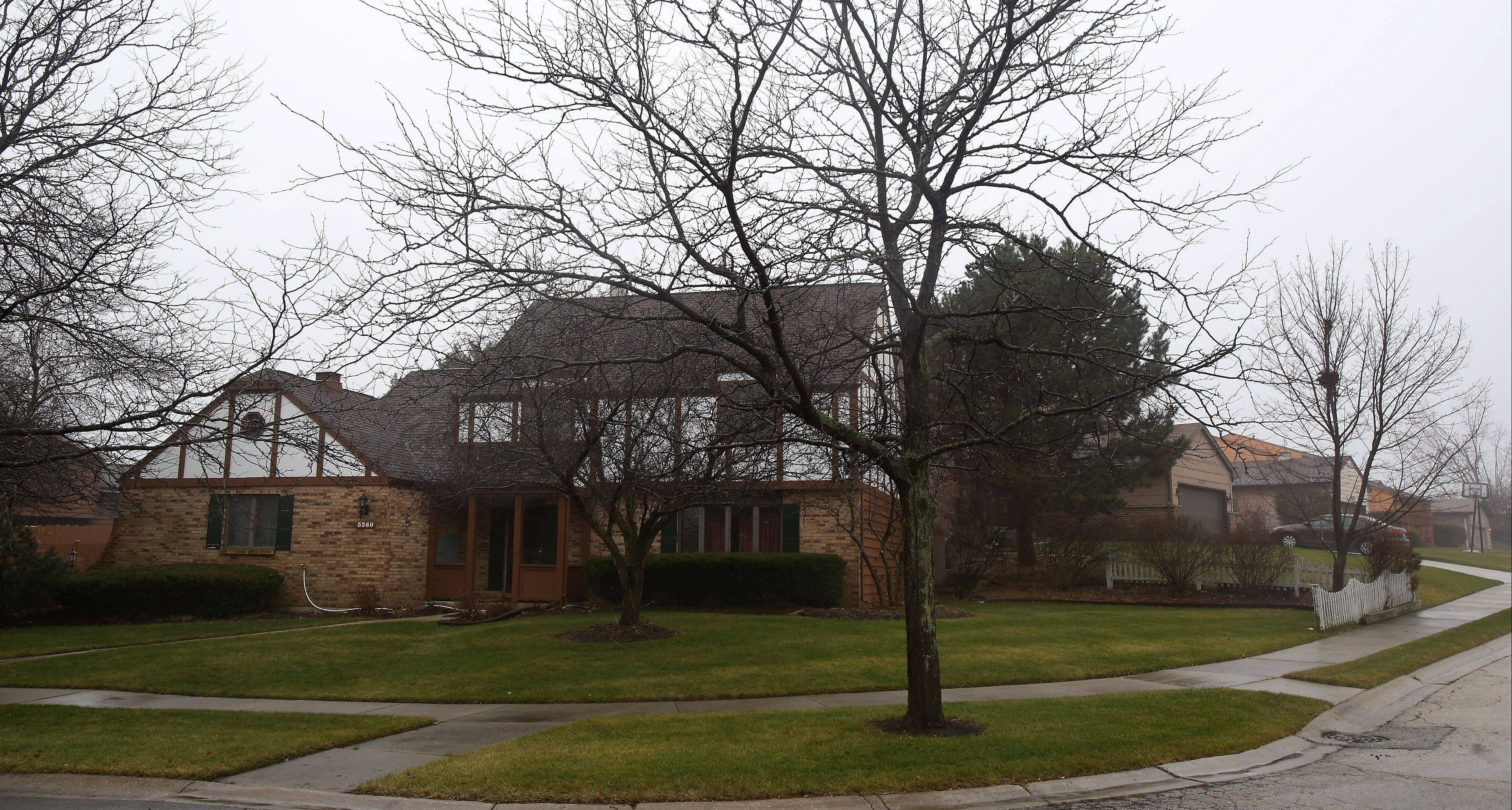 Burr Oak Drive is the major street running through the Oak Crest neighborhood.