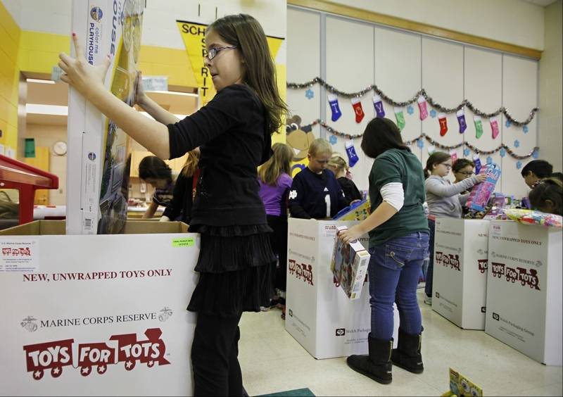 Toys For Tots Border : Batavia elementary students collect record number of toys