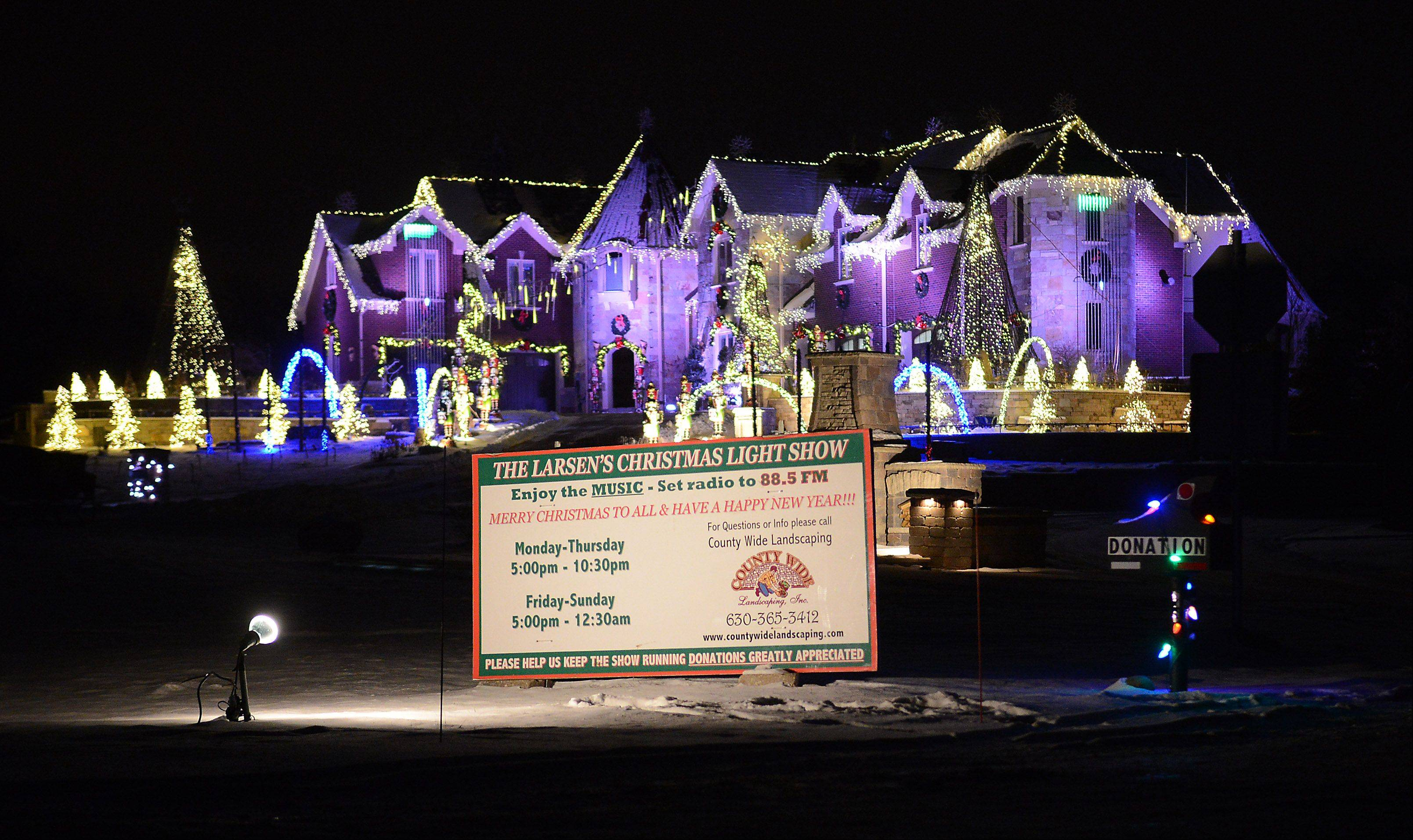 "The Larsen family of Elburn had three weeks to prepare their holiday light display, which is subject of a new TV competition, ""The Great Christmas Light Fight."" It airs at 8 p.m. Monday on ABC 7."