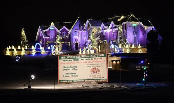 the larsen family of elburn had three weeks to prepare their holiday light display which - Christmas Light Tv Show