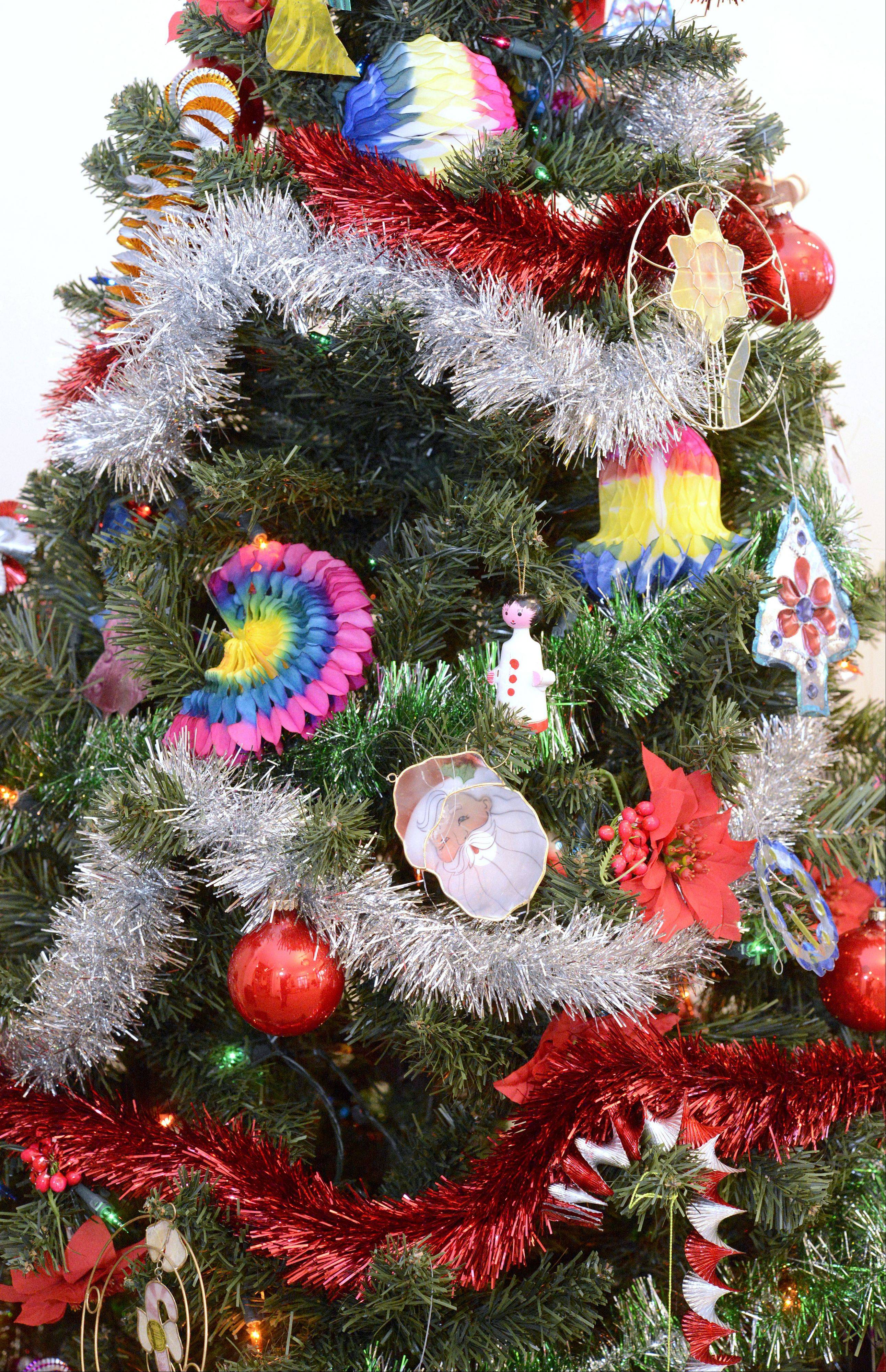 A Mexican Christmas tree in the Touching on Traditions display at the Elgin Public Museum.
