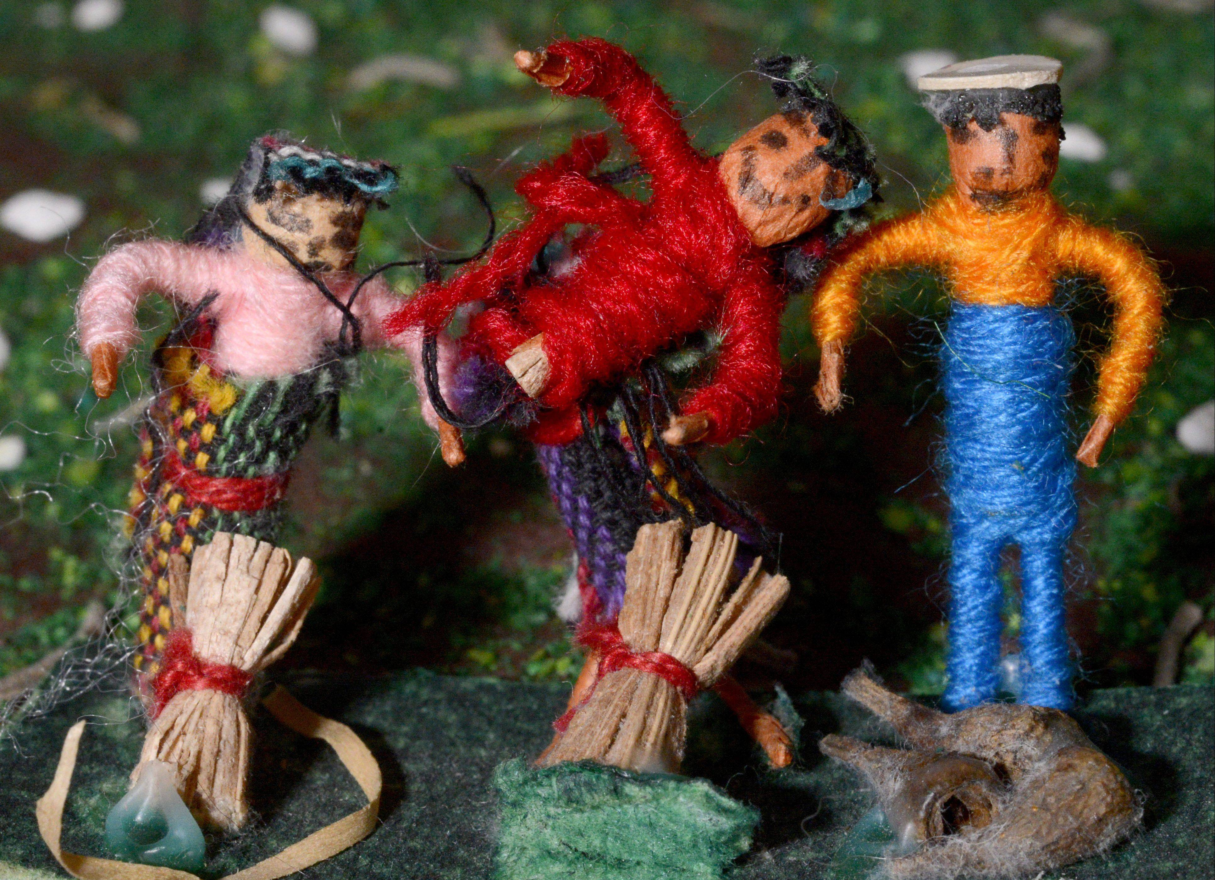 Part of the Guatemalan Christmas scene in the Touching on Traditions exhibit.