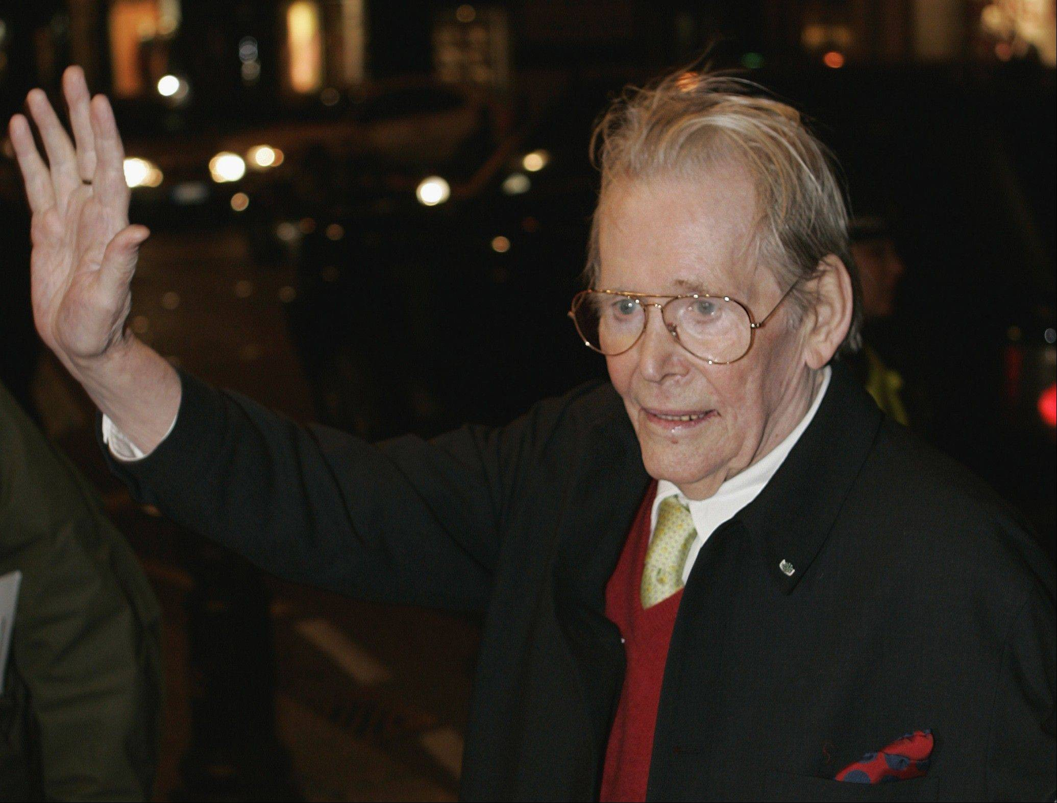 British actor Peter O'Toole arrives for the British premiere of his 2007 film 'Venus' at a central London cinema. O'Toole, the charismatic actor who achieved instant stardom as Lawrence of Arabia and was nominated eight times for an Academy Award, died at the age of 81.