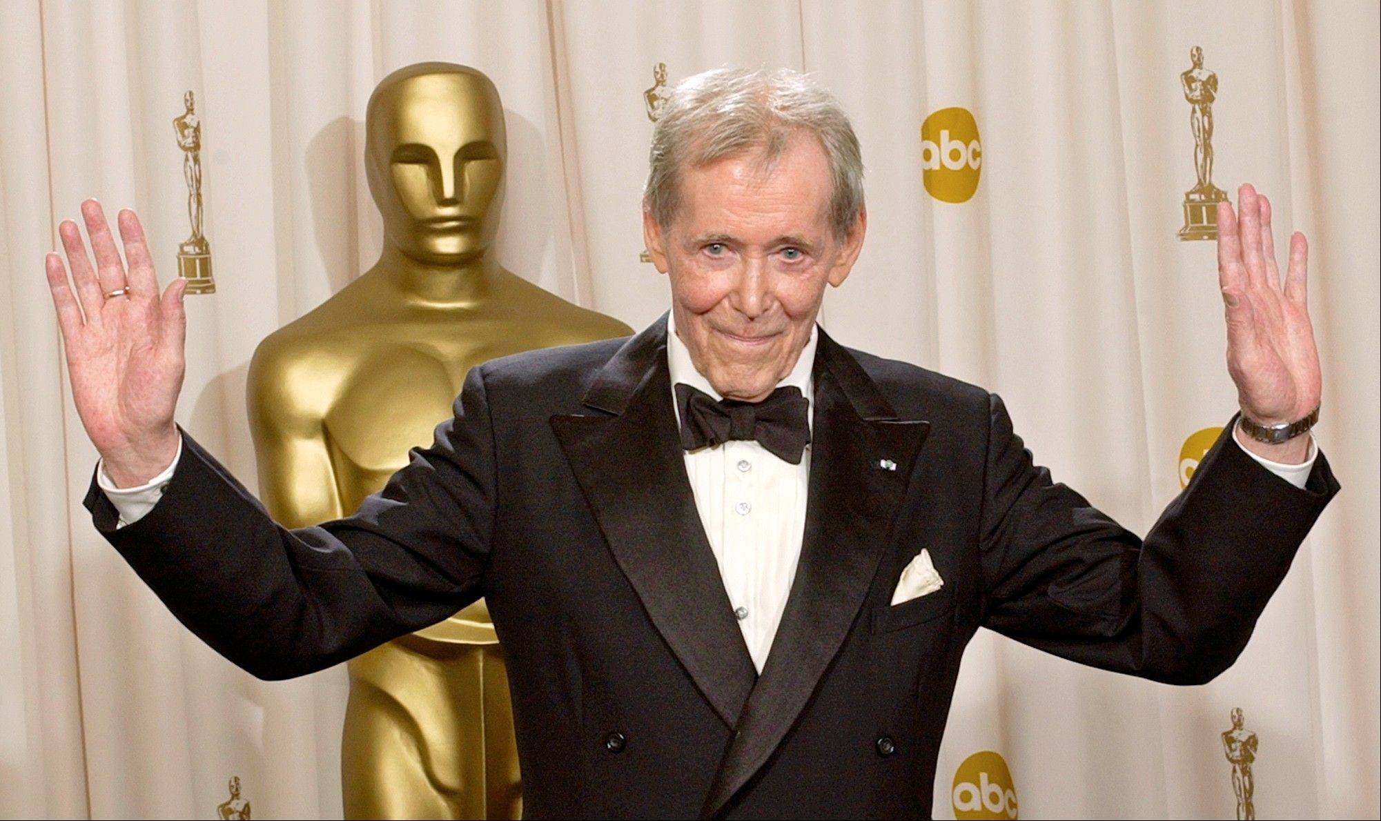 Peter O'Toole appears backstage after receiving the Academy Award's Honorary Award during the 75th annual Academy Awards in Los Angeles.