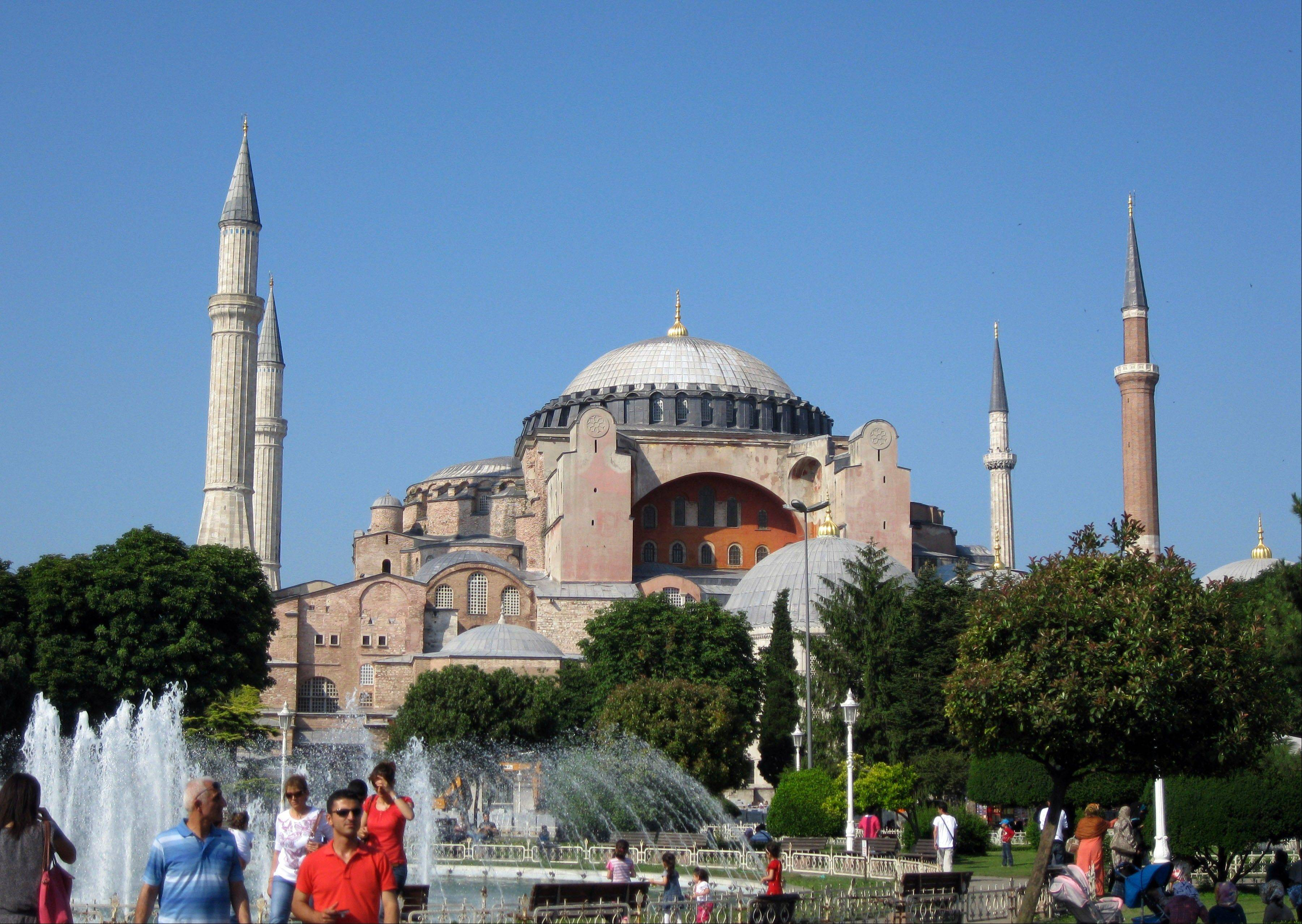 Haghia Sophia, the masterpiece of Byzantine architecture topped by a huge dome, has dominated old Istanbul's skyline since its construction in the 6th century.