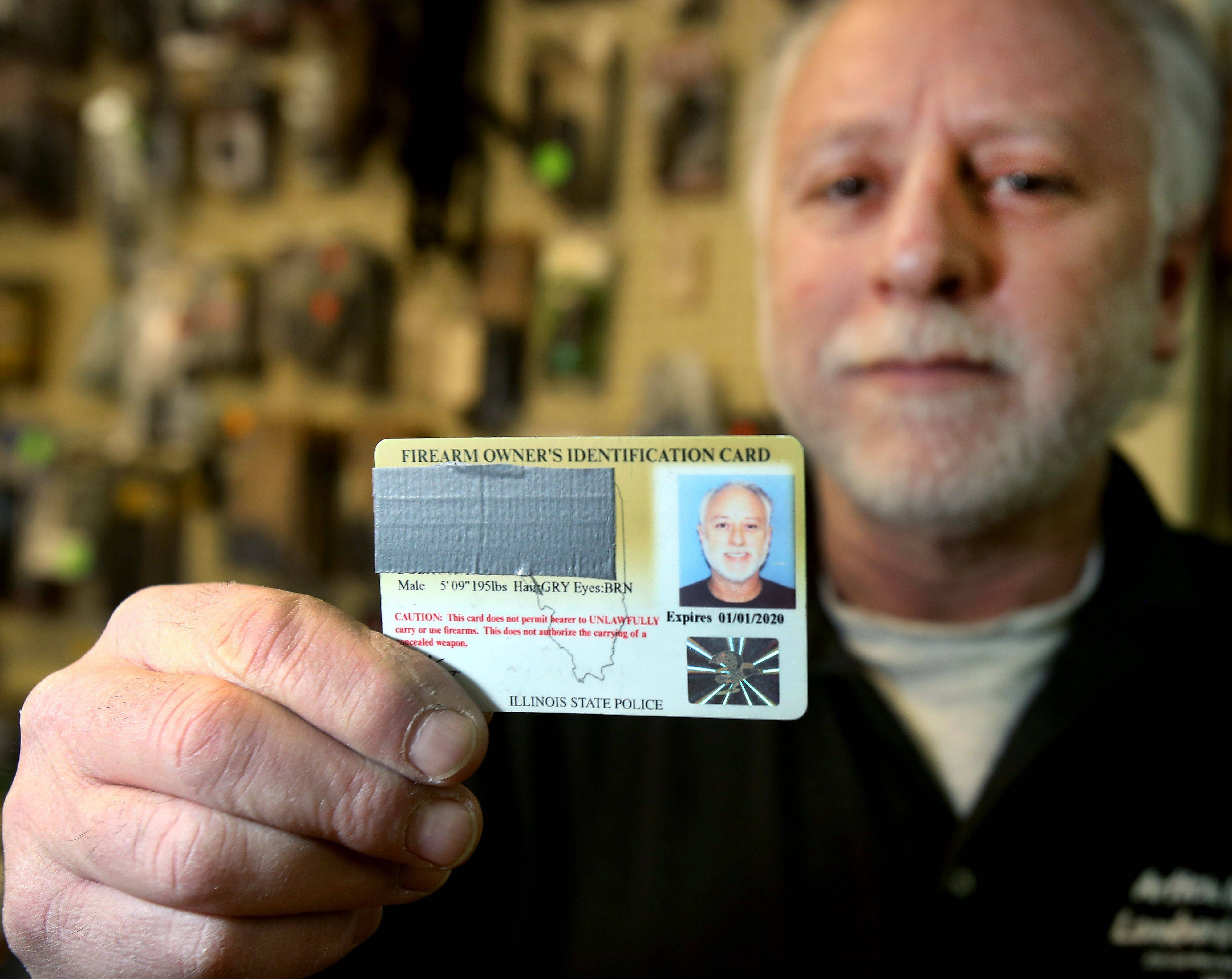 Barry Soskin, owner of Article 2 Gun Range in Lombard, is a Firearm Owner Identification cardholder, but he believes the state law requiring licensing before purchase puts his business at a disadvantage.