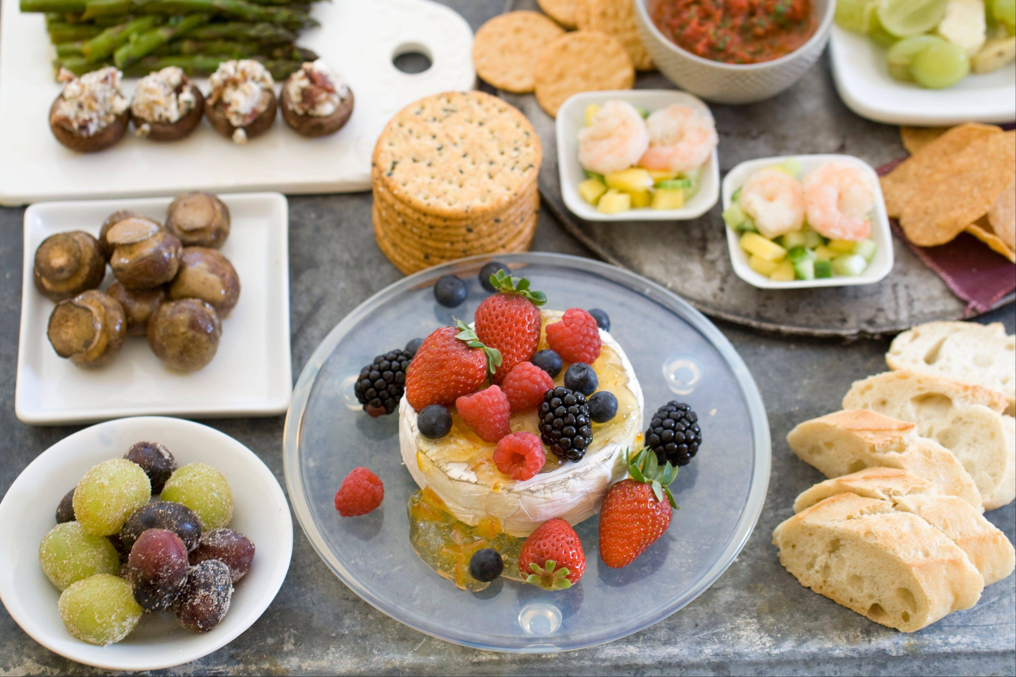 Using a handful of �base� foods, like asparagus and goat cheese, you can create an assortment of easy party foods.