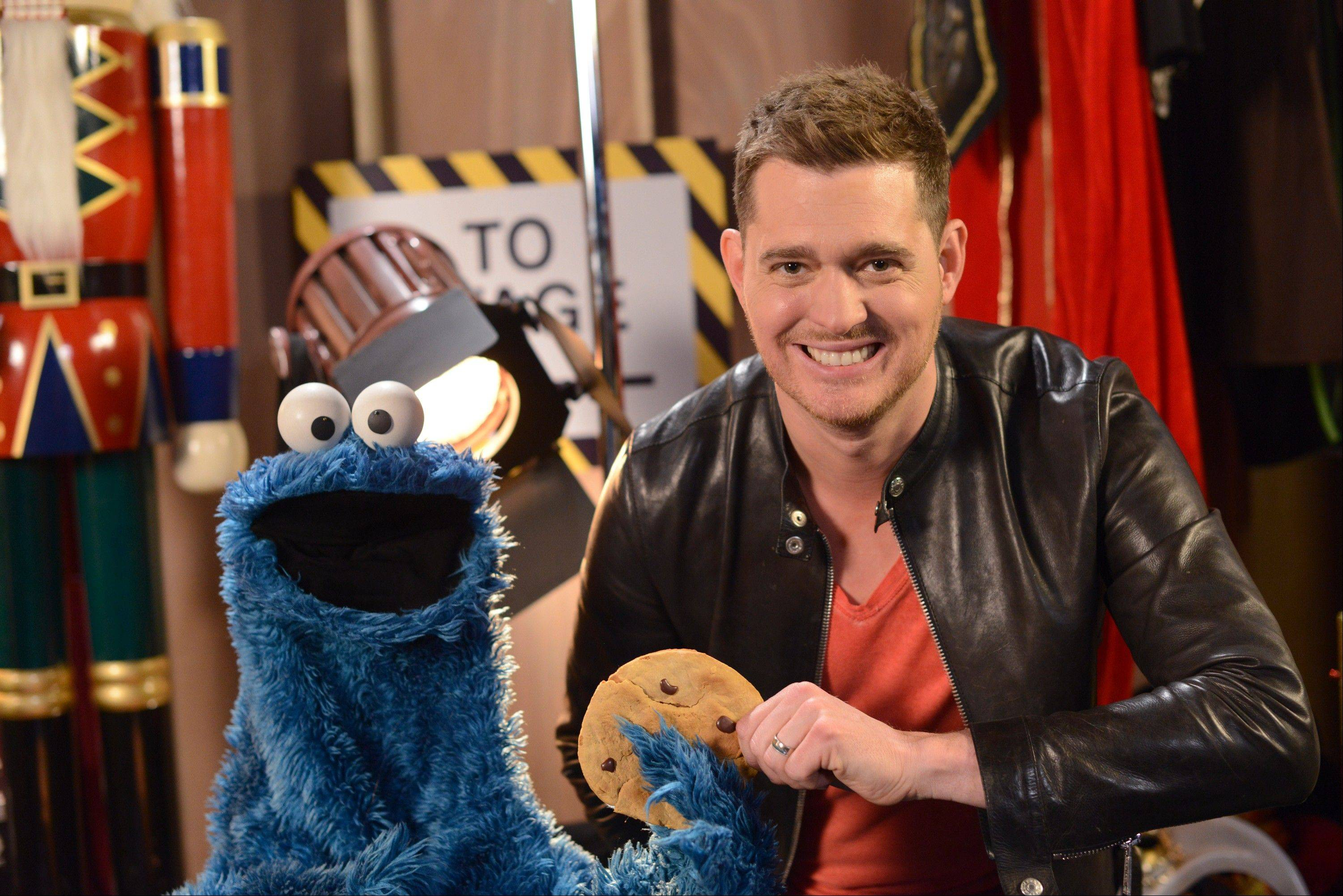 "For ""Michael Buble's 3rd Annual Christmas Special,"" the singer is joined by special guest Cookie Monster."