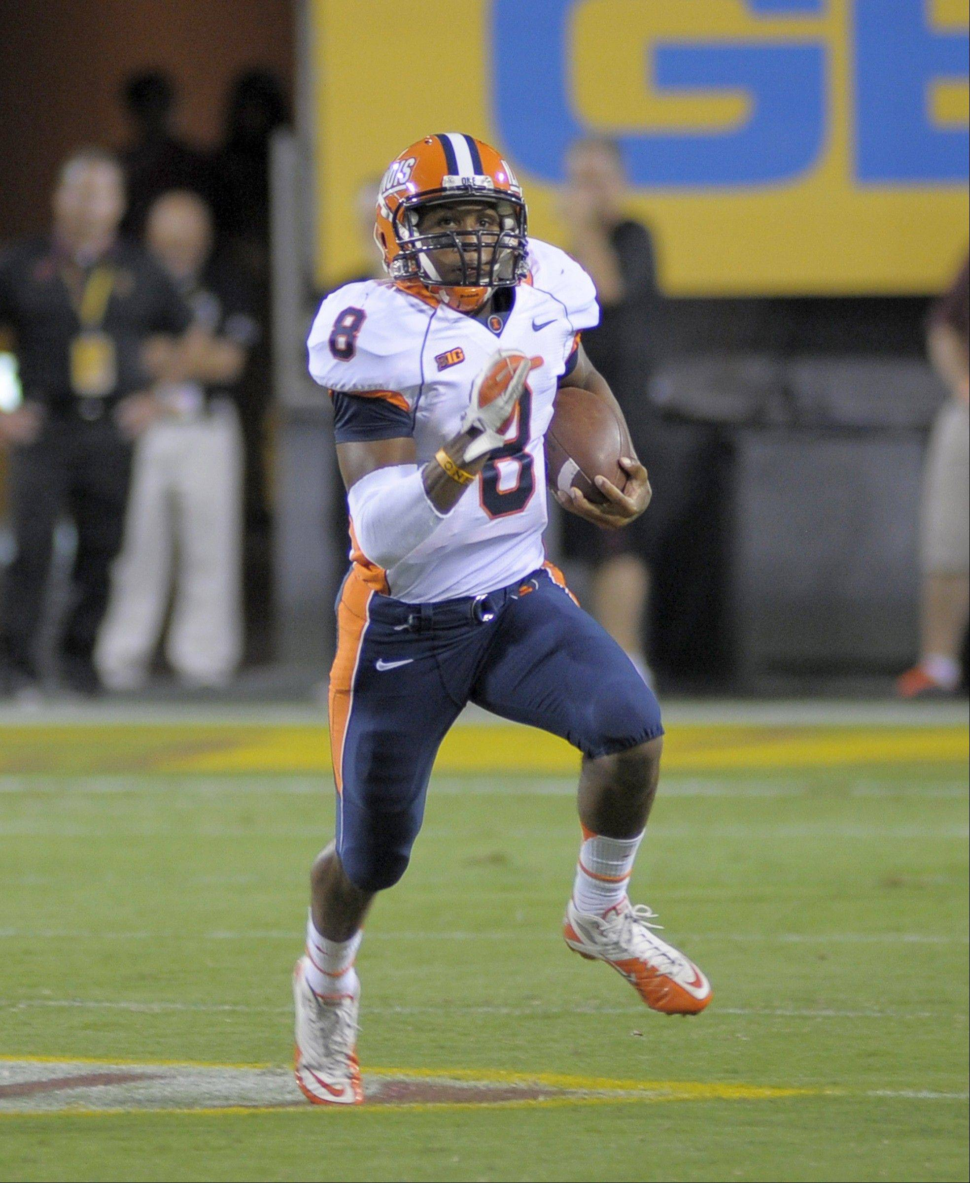 Former Prospect quarterback Miles Osei excelled at wide receiver and on special teams for Illinois in his final season of college football.