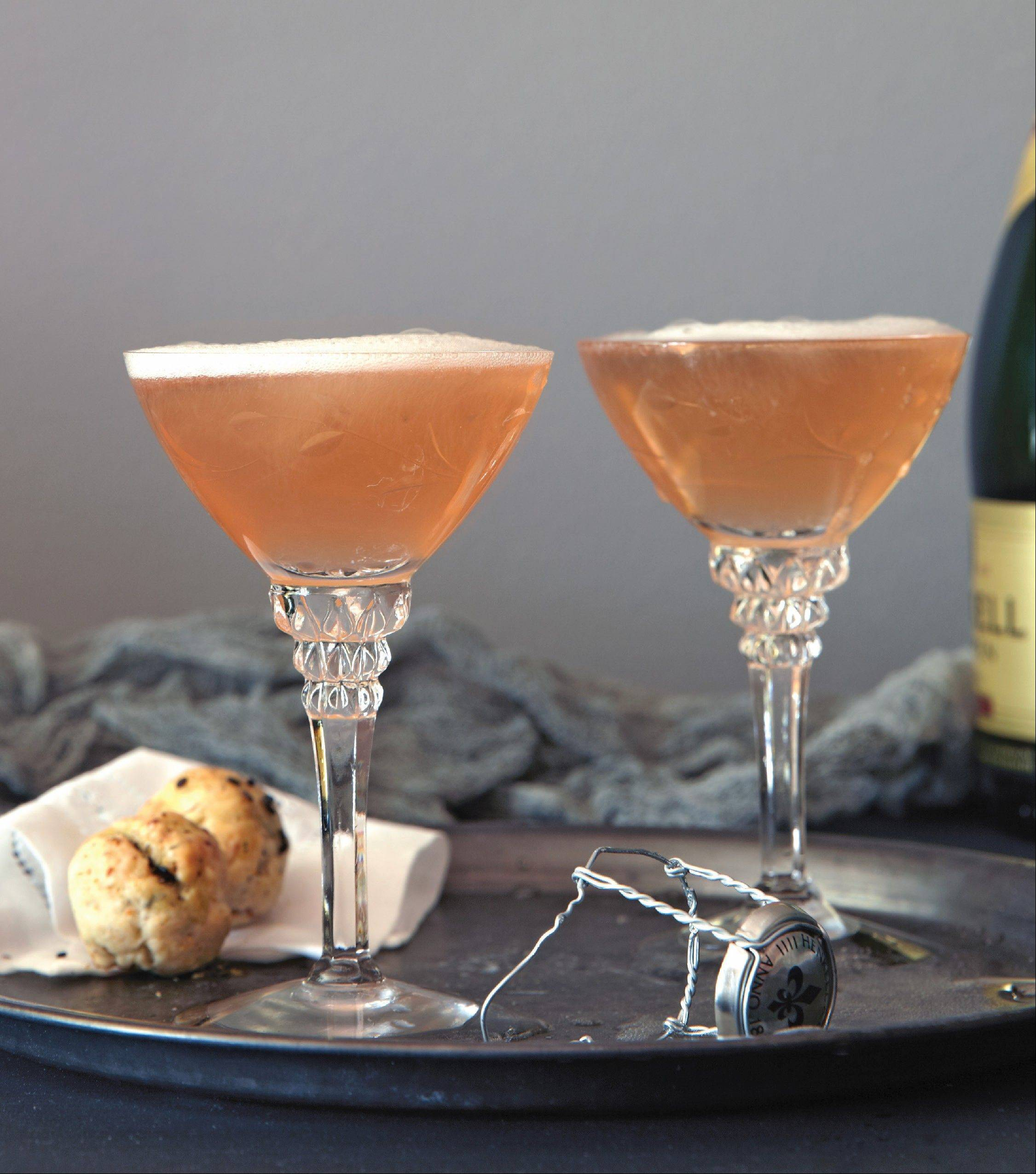 Bubbly and bourbon combine for one Bloody Good Punch. �Winter Cocktails� author Maria Del Mar Sacasa suggests using a less expensive sparkler, like cava or prosecco.