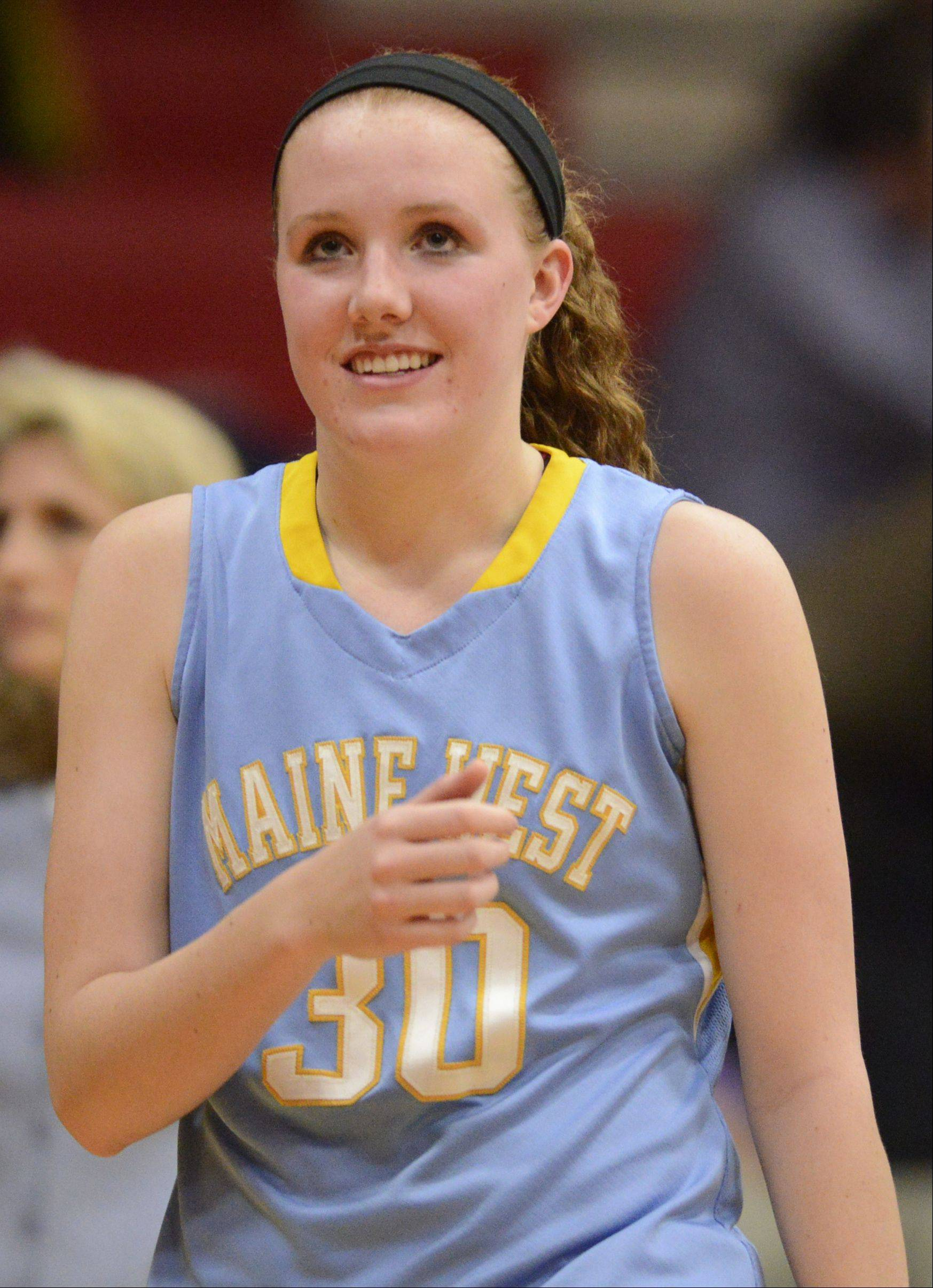 Brittany Collins became Maine West�s all-time leading scorer with 1,653 � and counting � after scoring 15 in the Warriors� victory Tuesday at Maine South.