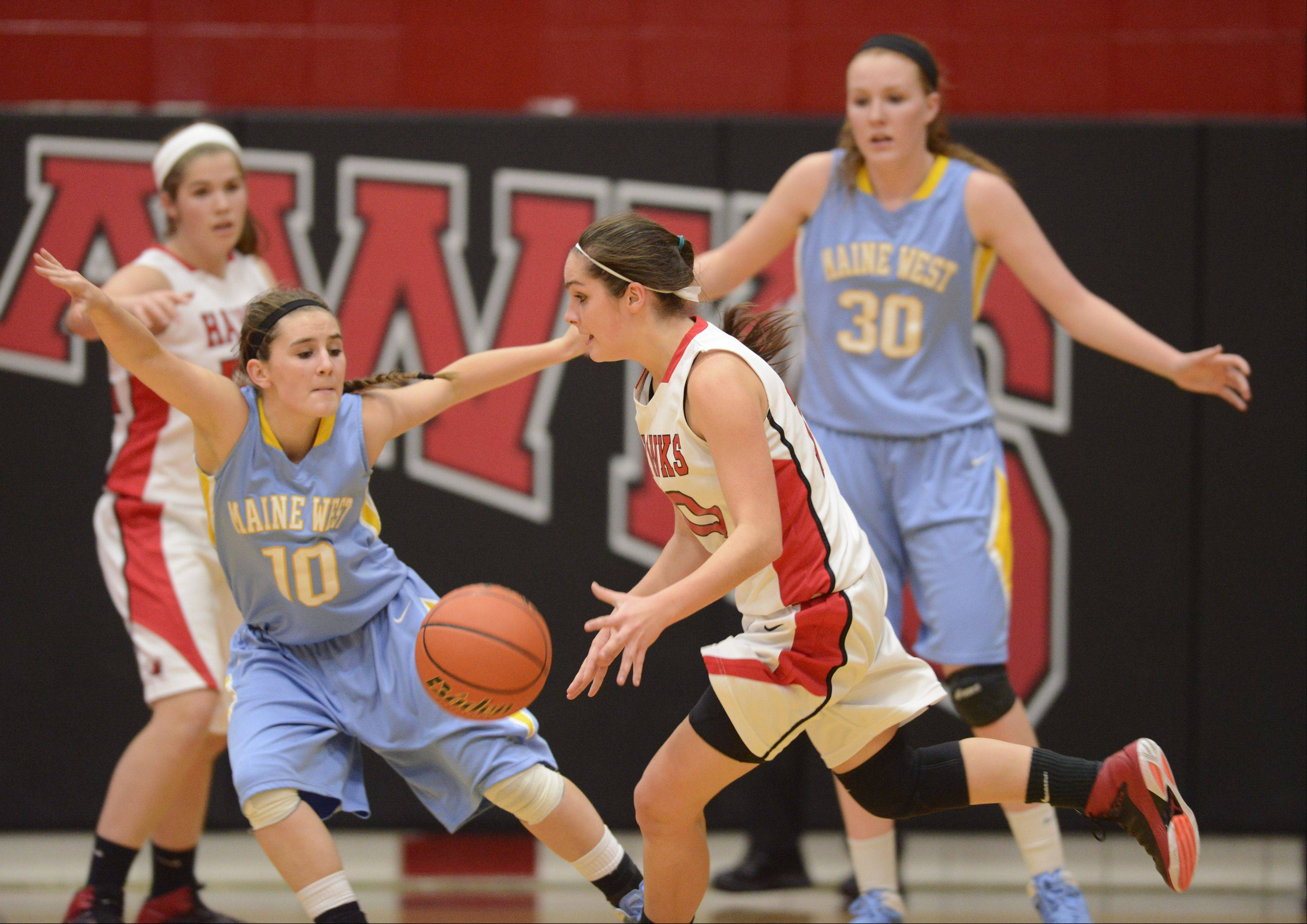 Photos from the Maine West vs. Maine South girls basketball game on Tuesday, December 17th, in Park Ridge